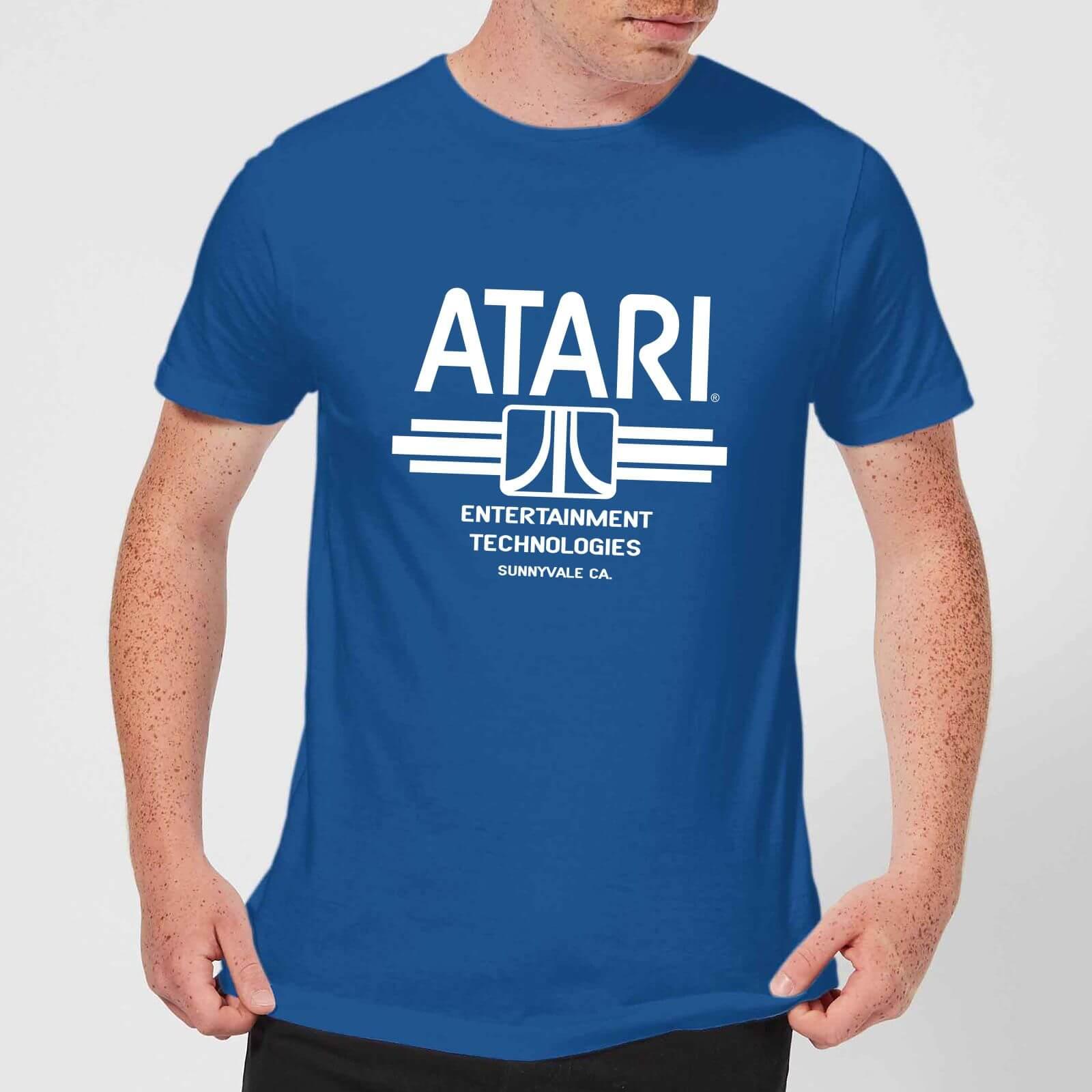 Atari Ent Tech Men's T-Shirt - Royal Blue - S - Royal Blue