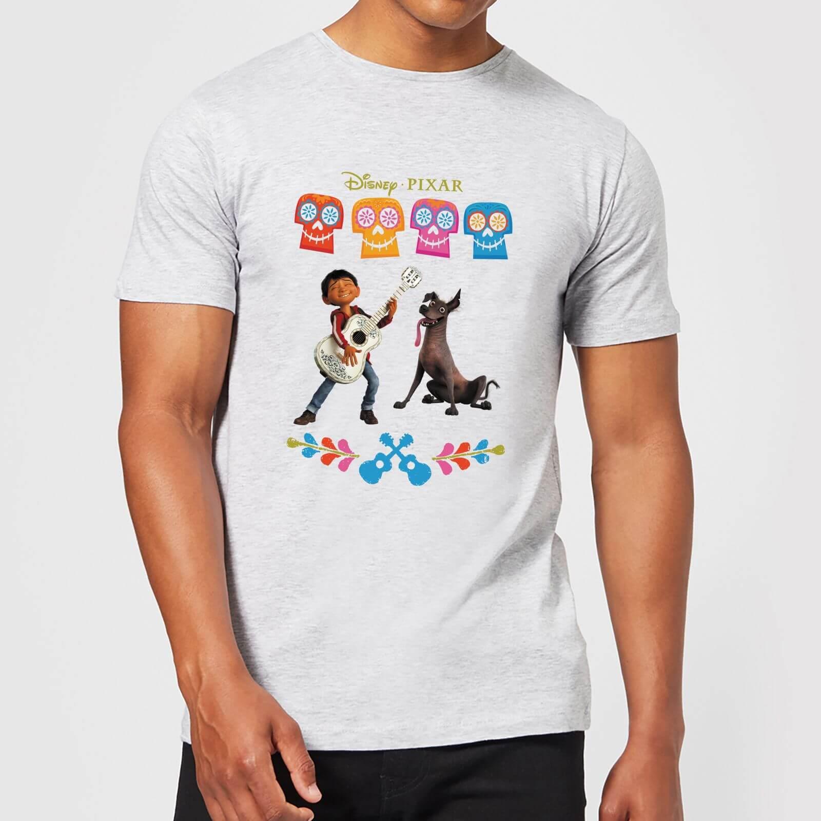 Disney Coco Miguel Logo Men's T-Shirt - Grey - L - Grey
