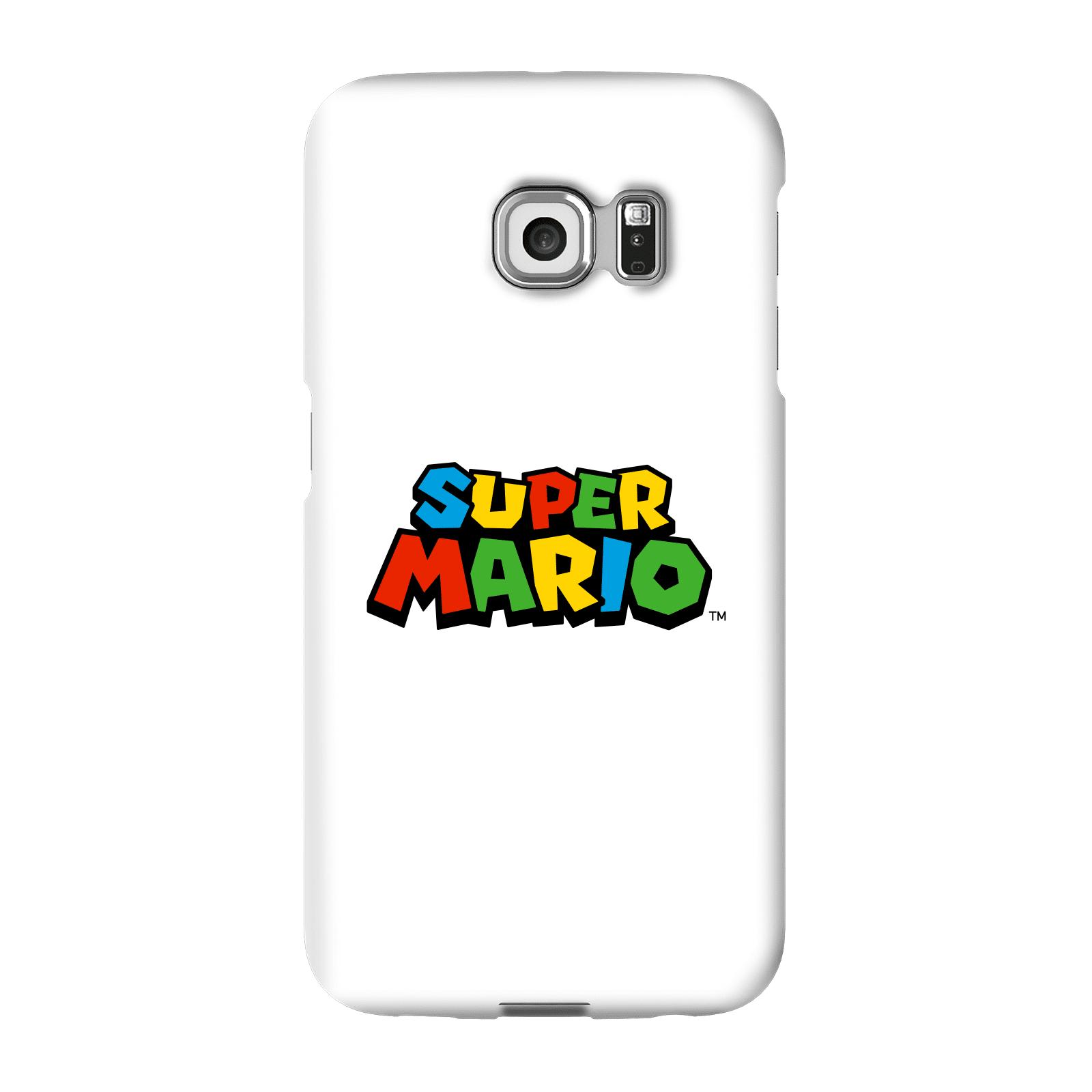 Nintendo Super Mario Colour Logo Phone Case - Samsung S6 Edge - Snap Case - Gloss