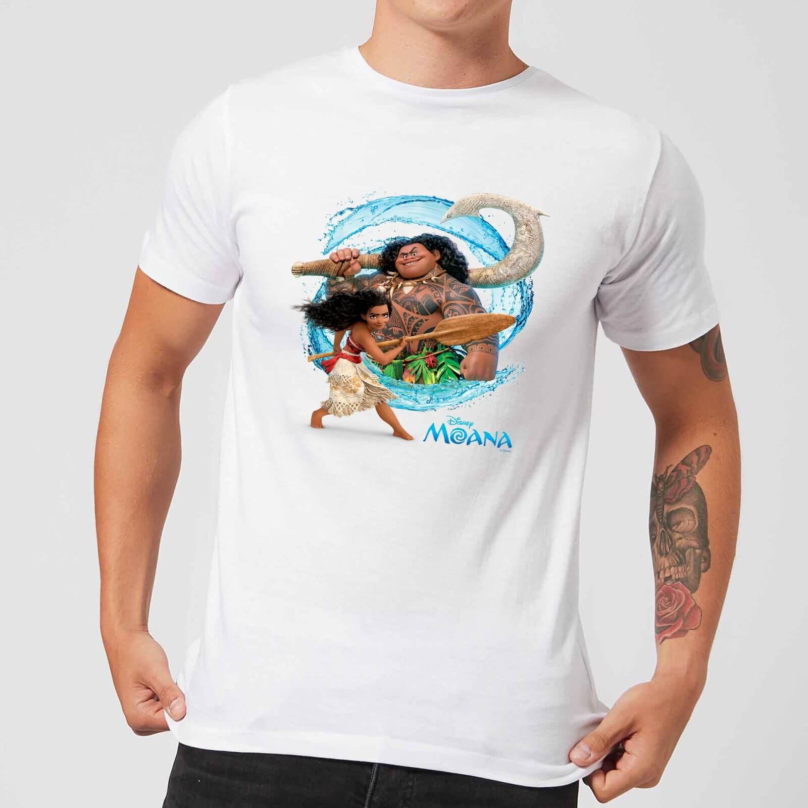 Disney Moana Wave Men's T-Shirt - White - XXL - White
