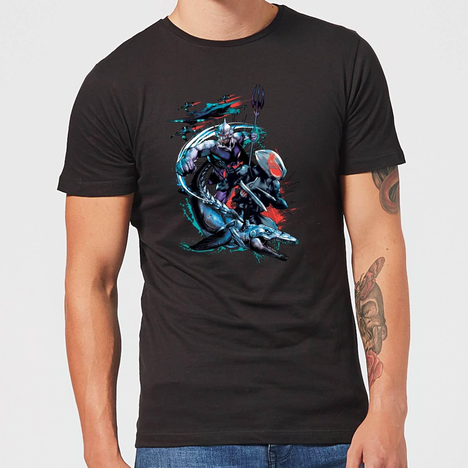 DC Comics Aquaman Black Manta & Ocean Master Men's T-Shirt - Black - XL - Black