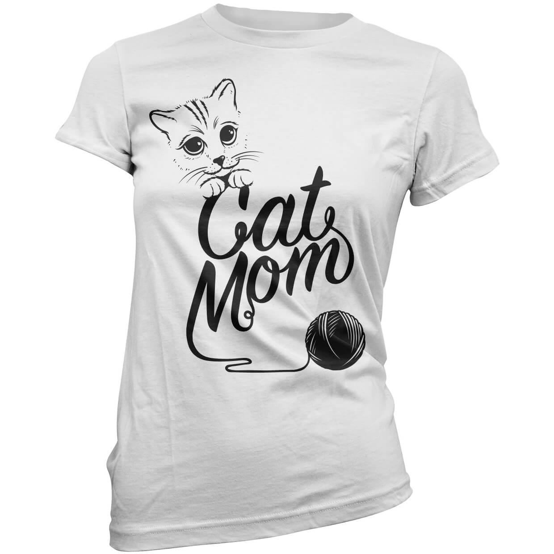 T-Junkie Cat Mom Women's T-Shirt - White - XXL - White