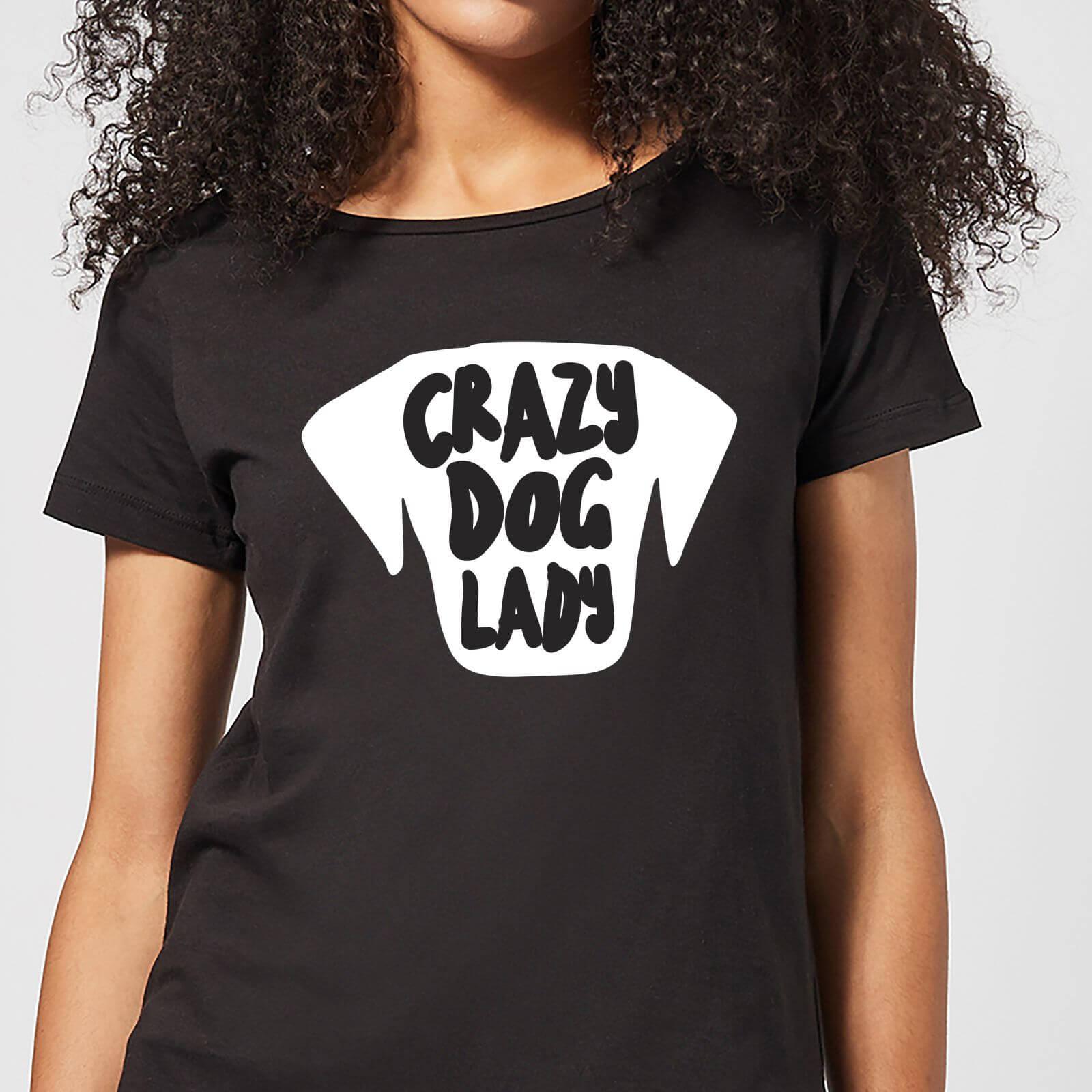 By IWOOT Crazy Dog Lady Women's T-Shirt - Black - XS - Black