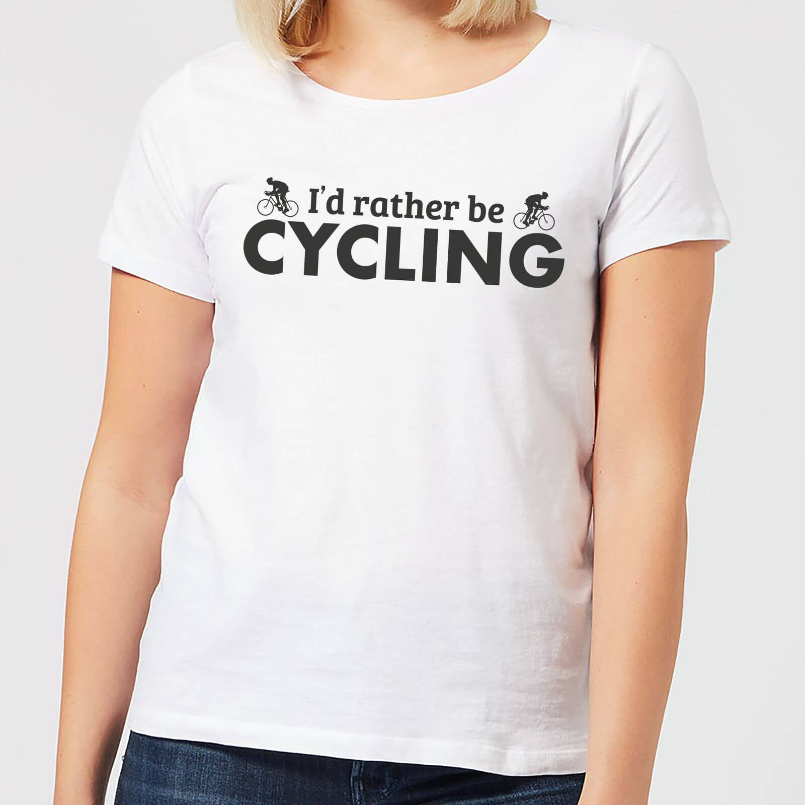 By IWOOT I'd Rather be Cycling Women's T-Shirt - White - 3XL - White
