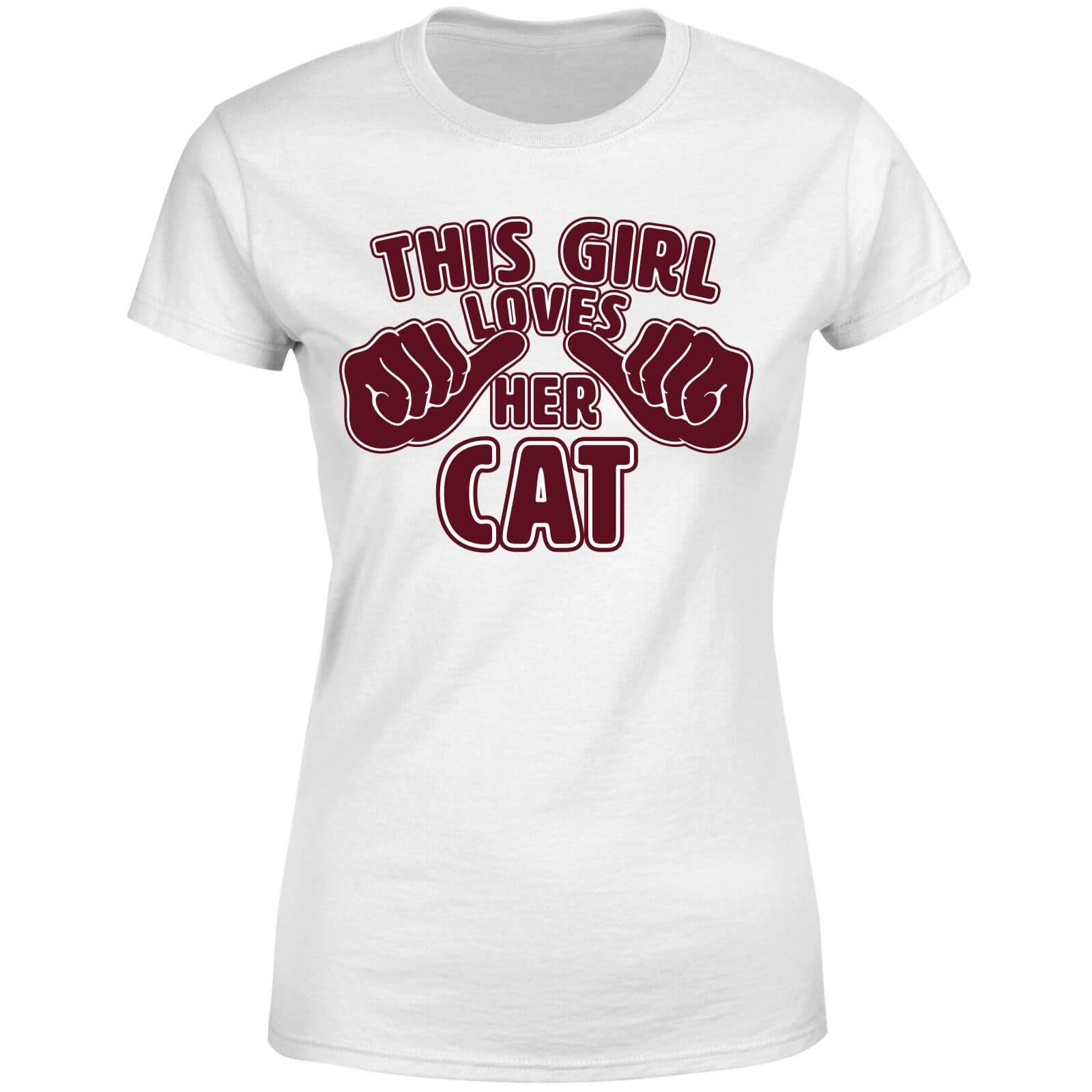 The Pet Collection This Girl Loves Her Cat Women's T-Shirt - White - 4XL - White