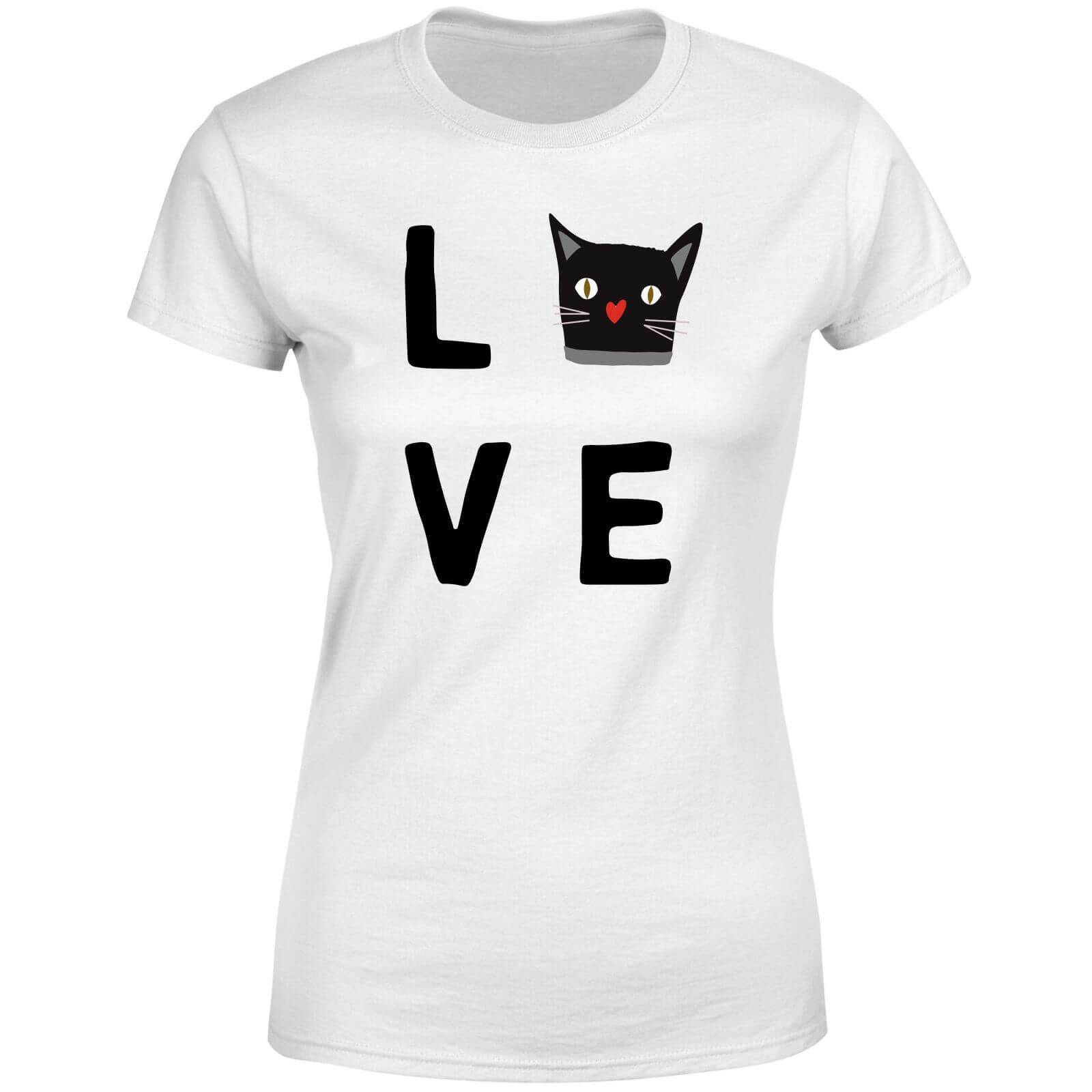 The Pet Collection Cat Love Women's T-Shirt - White - XS - White