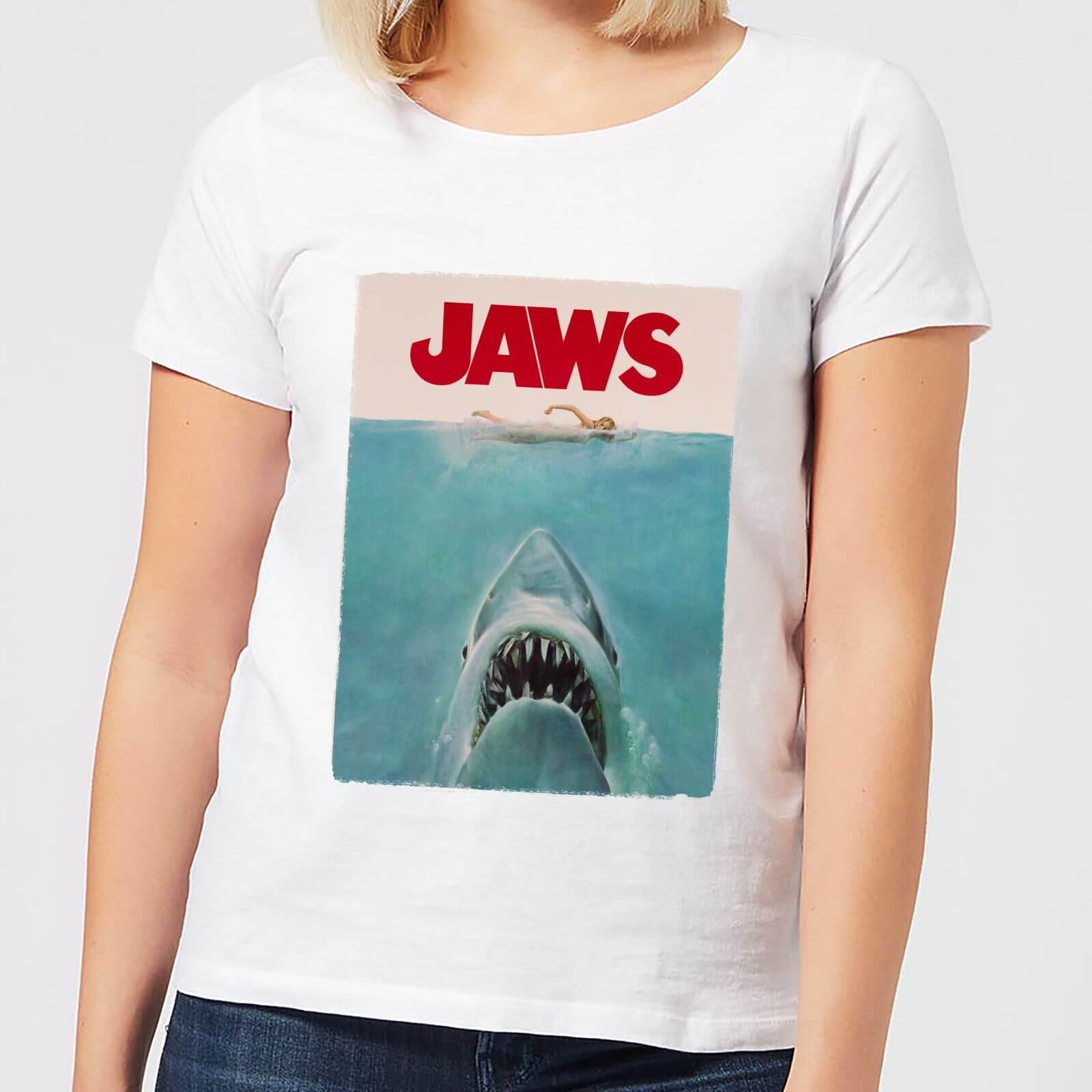 Jaws Classic Poster Women's T-Shirt - White - XL - White