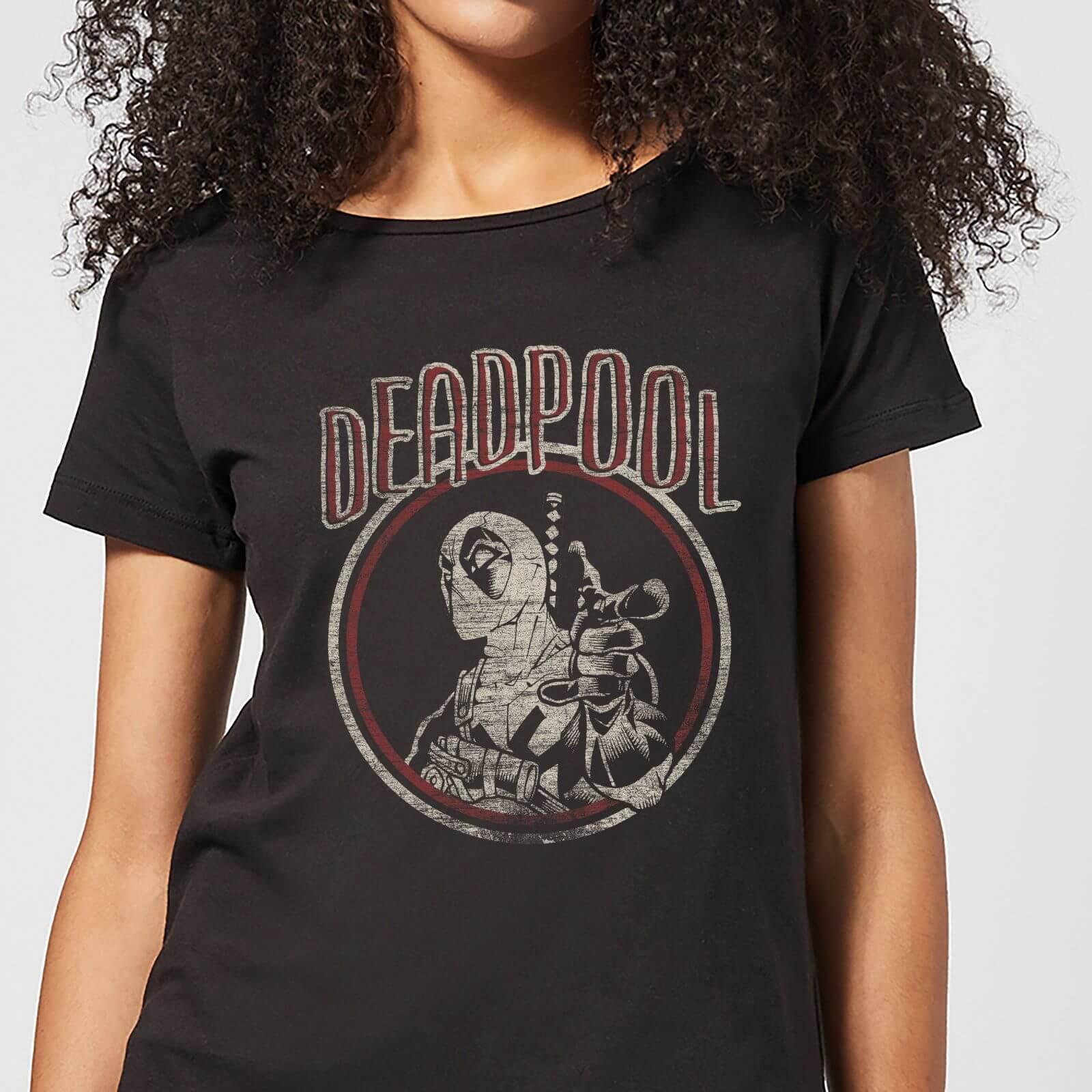 Marvel Deadpool Vintage Circle Women's T-Shirt - Black - XS - Black