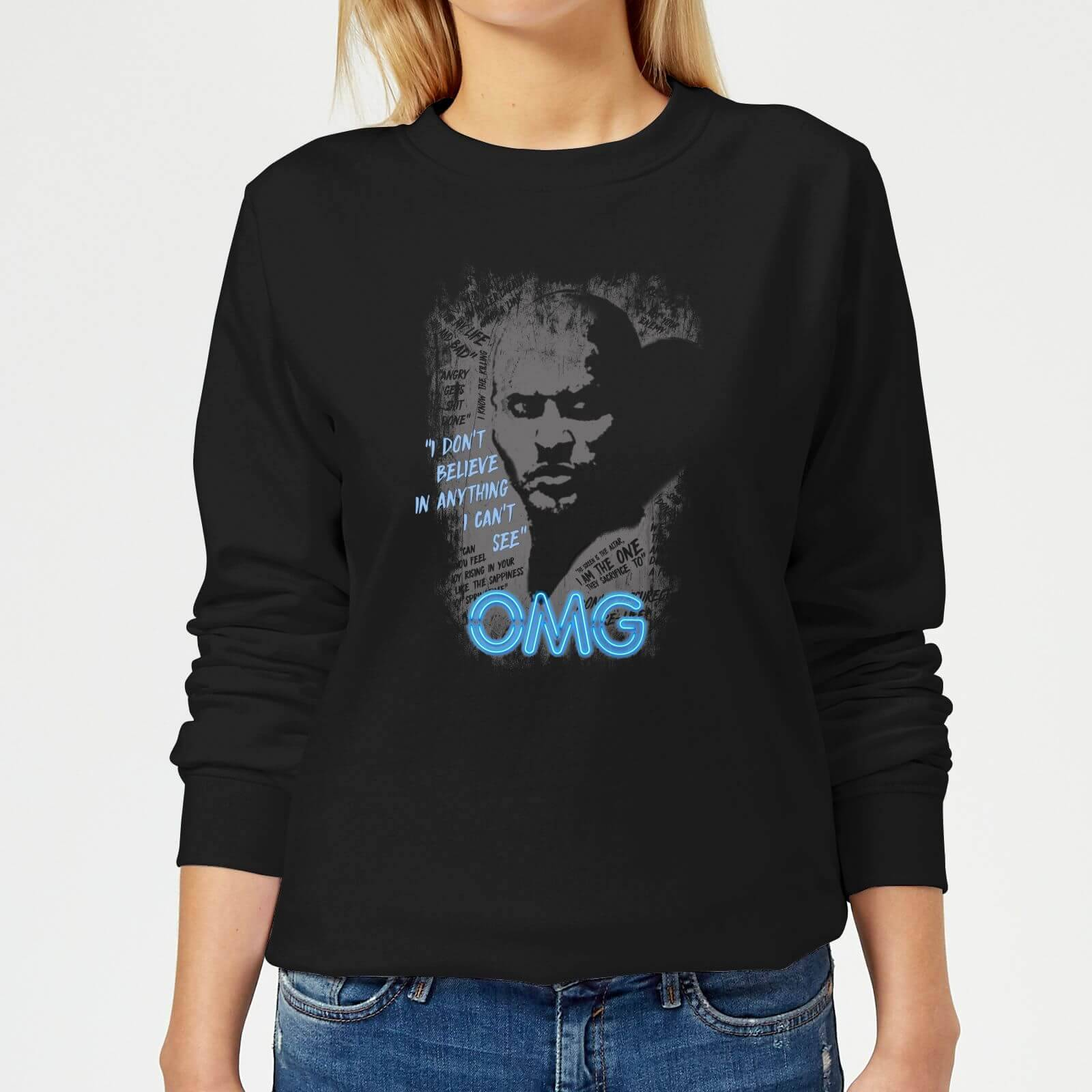 American Gods Shadow OMG Women's Sweatshirt - Black - XXL - Black