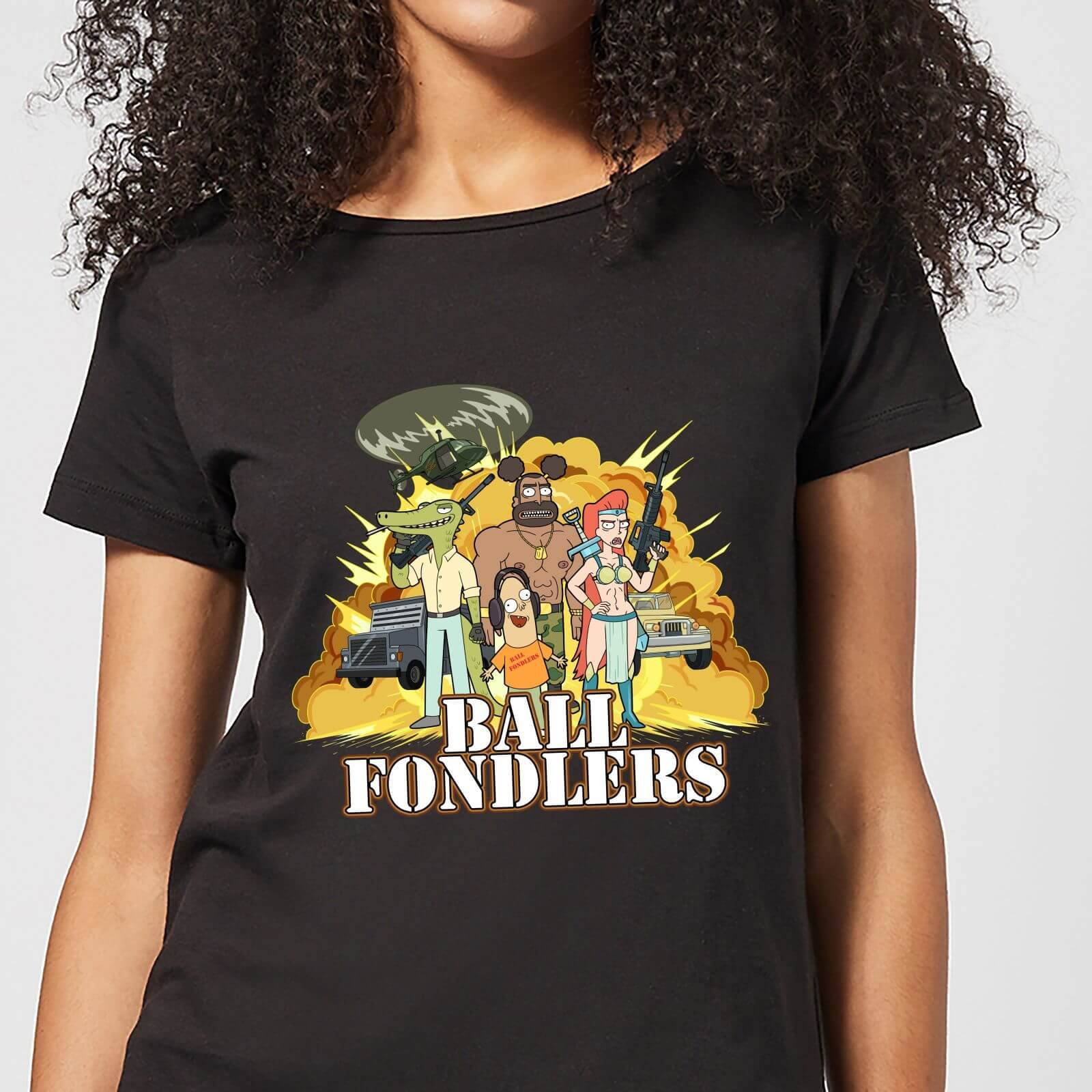 Rick and Morty Ball Fondlers Women's T-Shirt - Black - S - Black