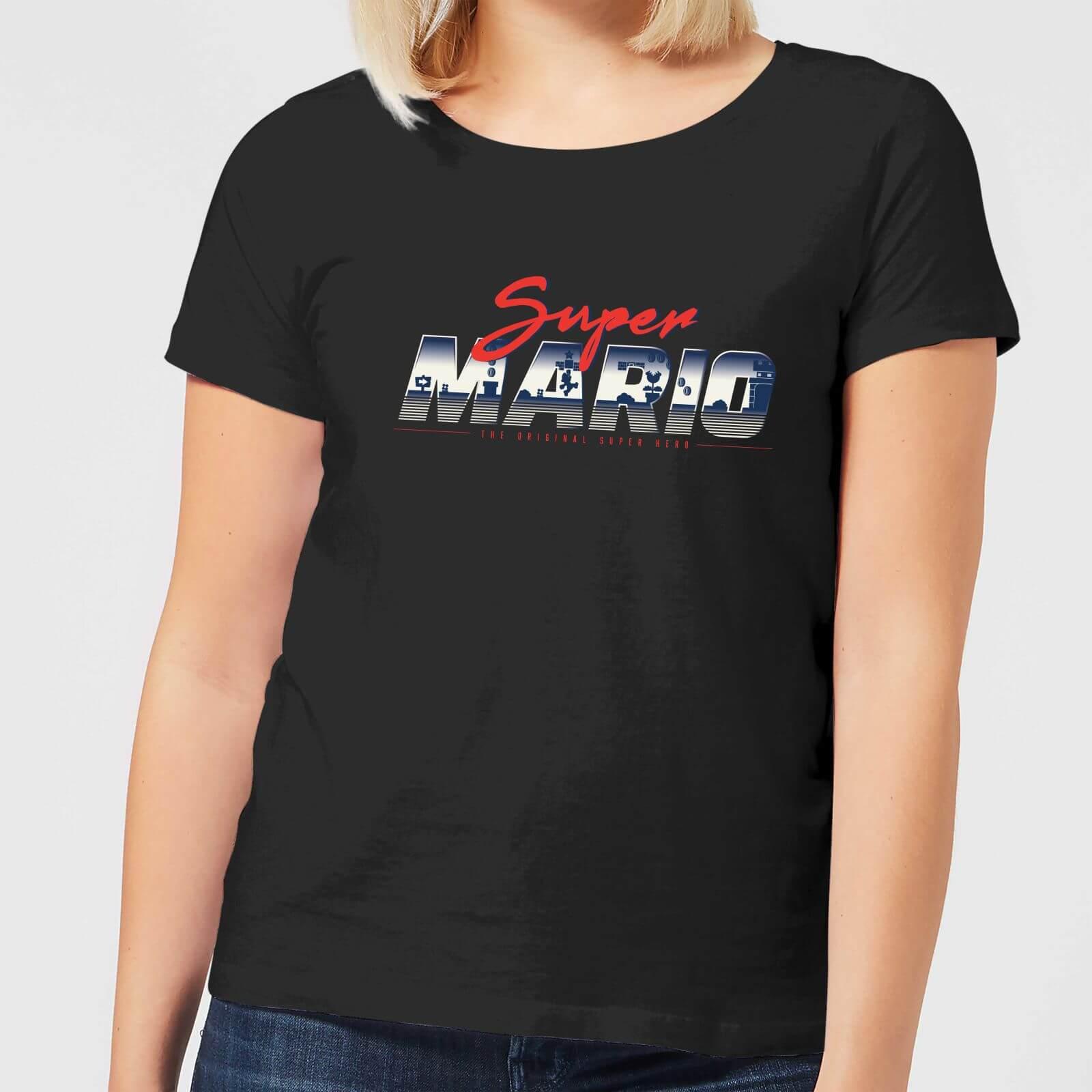 Nintendo Super Mario Original 80s Hero Women's T-Shirt - Black - XXL - Black