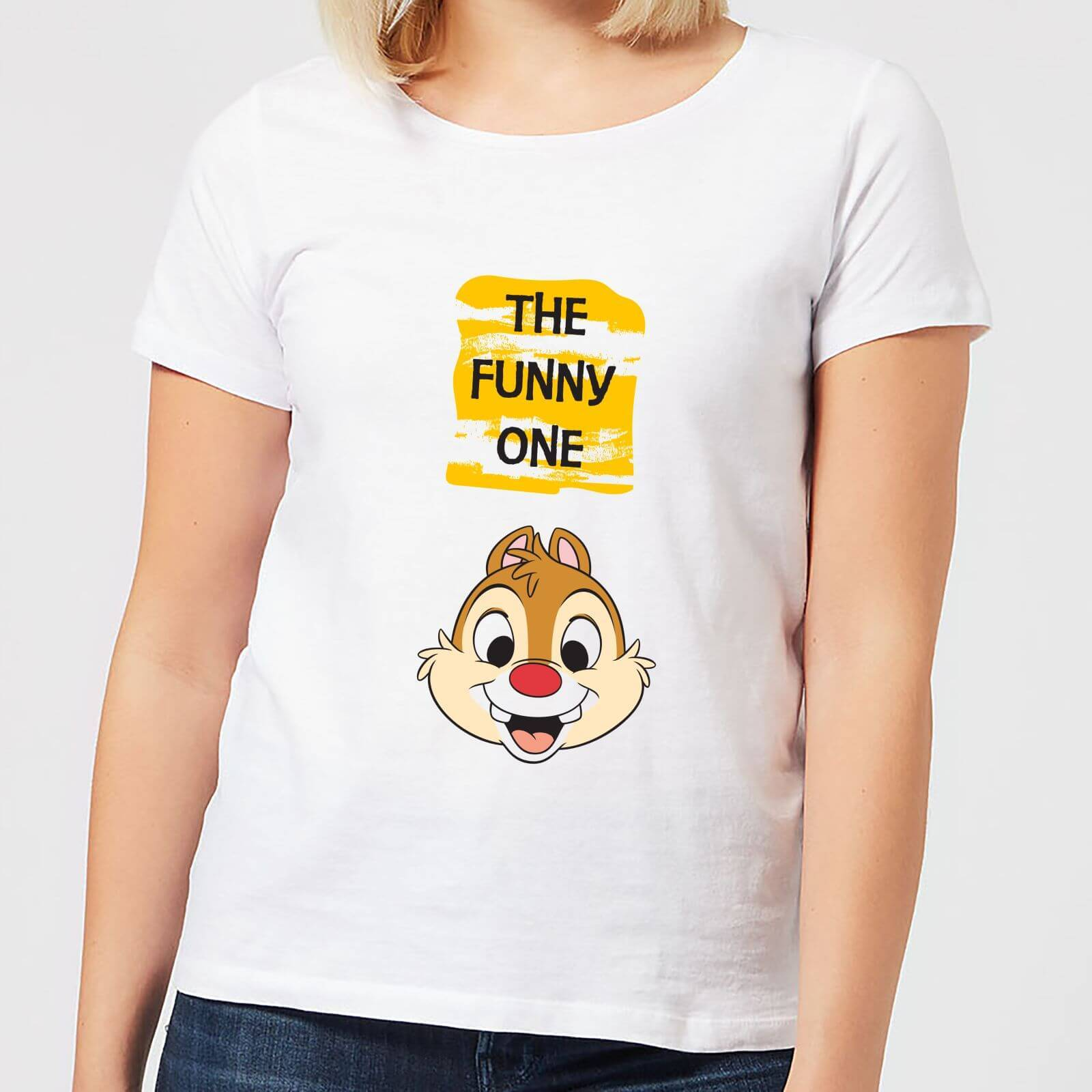 Disney Chip 'N' Dale The Funny One Women's T-Shirt - White - M - White