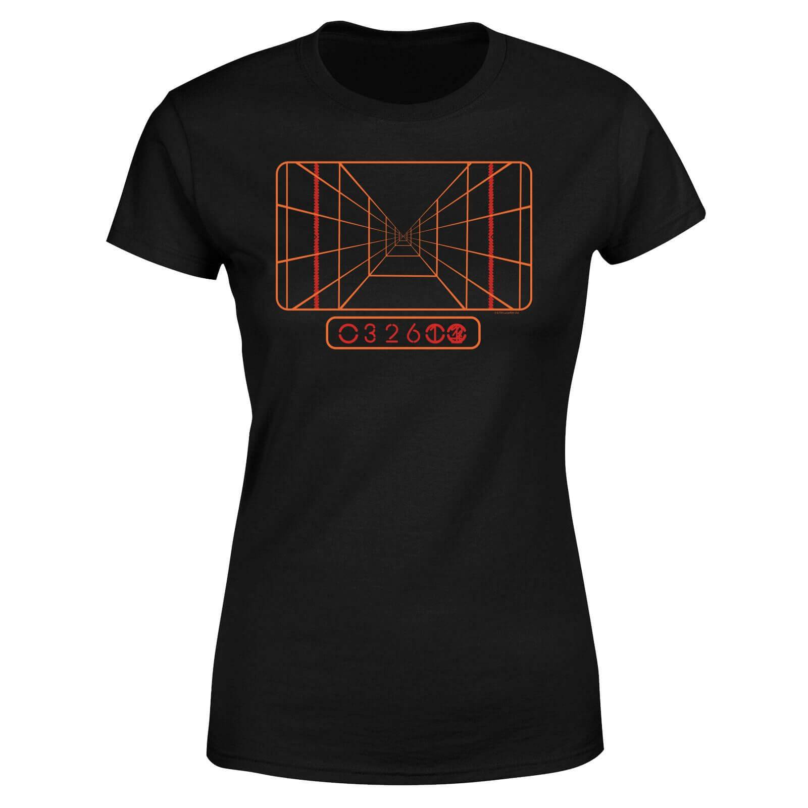 Star Wars Targeting Computer Women's T-Shirt - Black - L - Black