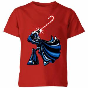 Star Wars Candy Cane Darth Vader Kids' Christmas T-Shirt - Red - 5-6 Years - Red