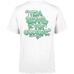 Zavvi Clothing Zavvi 10 Year Graffiti White T-Shirt - S - White