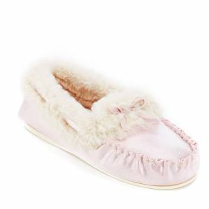 Dunlop Women's Amaline Moccasin Slippers - Lilac - UK 3 - Purple