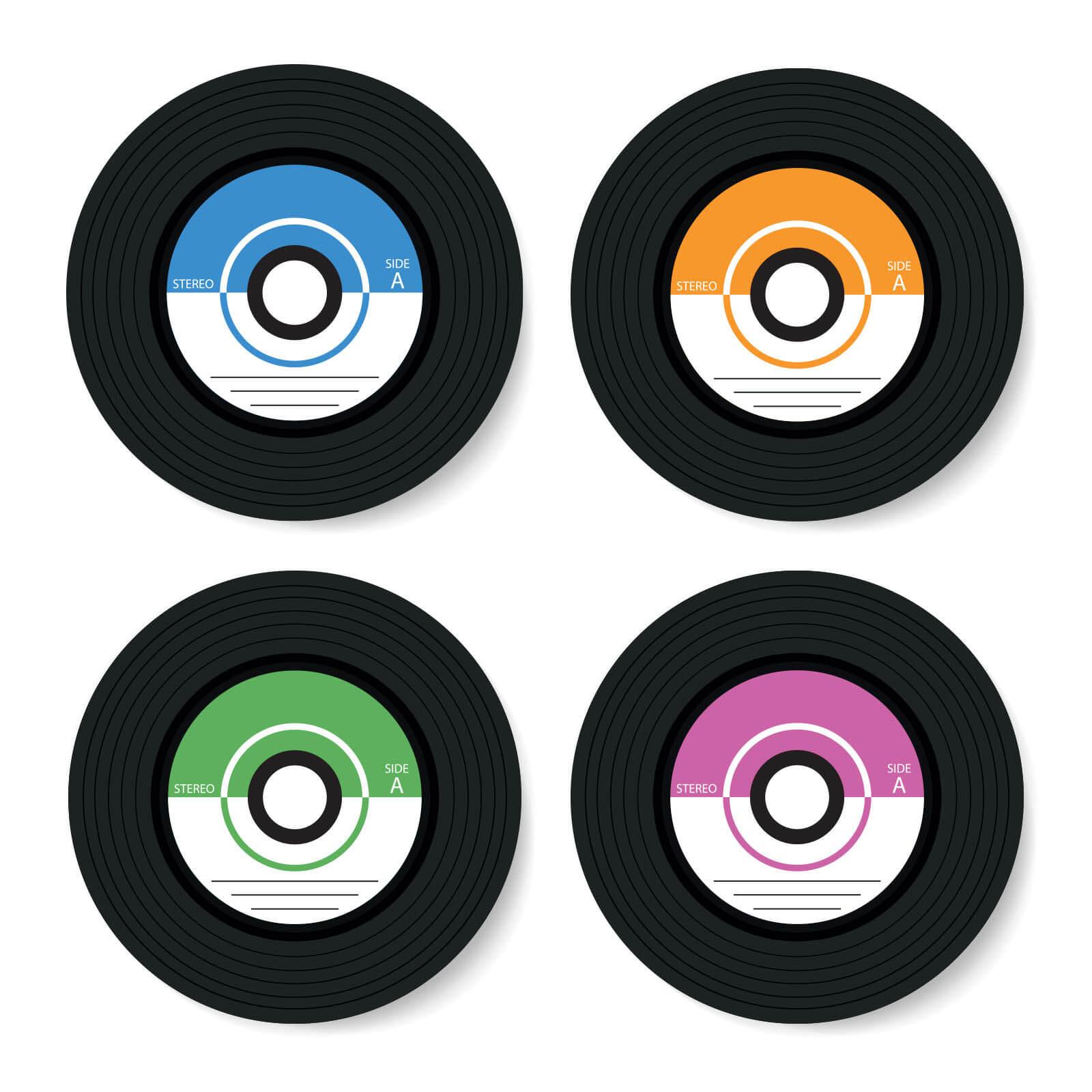 By IWOOT Vinyl Coasters Coaster Set