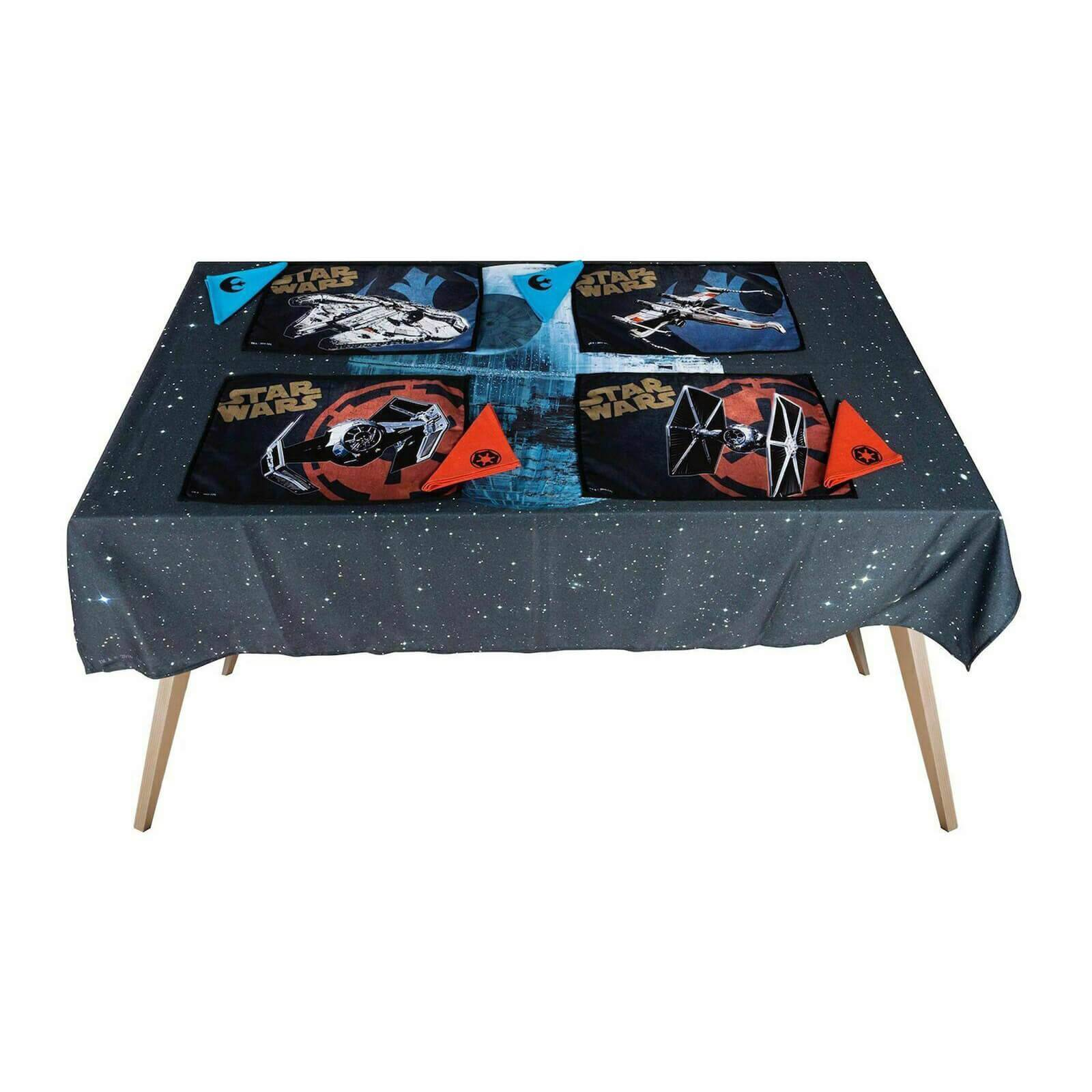 Star Wars Death Star Star Wars Fabric Tablecloth Set (includes 4 Placemats and 4 Napkins)