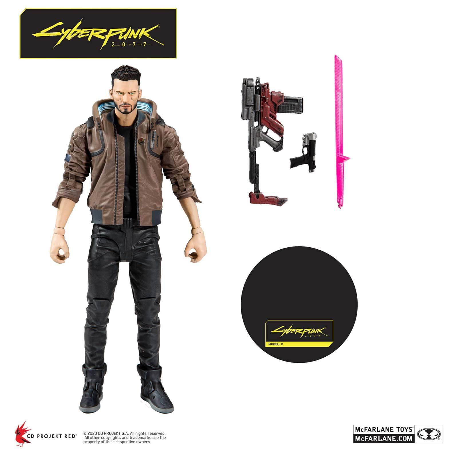 McFarlane Toys McFarlane Cyberpunk 2077 V Male 7-Inch Action Figure
