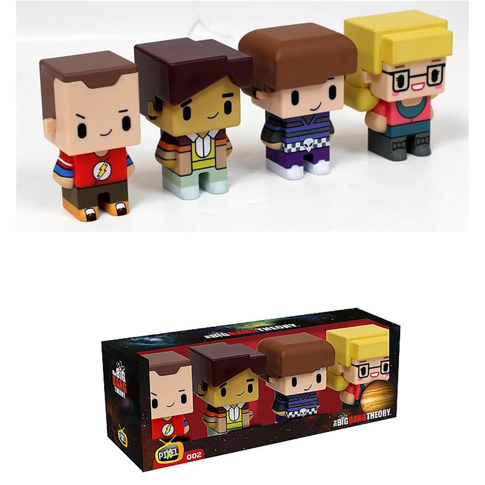 SD Toys Pixel Figure Big Bang Theory Set of 4 Figures 7cm