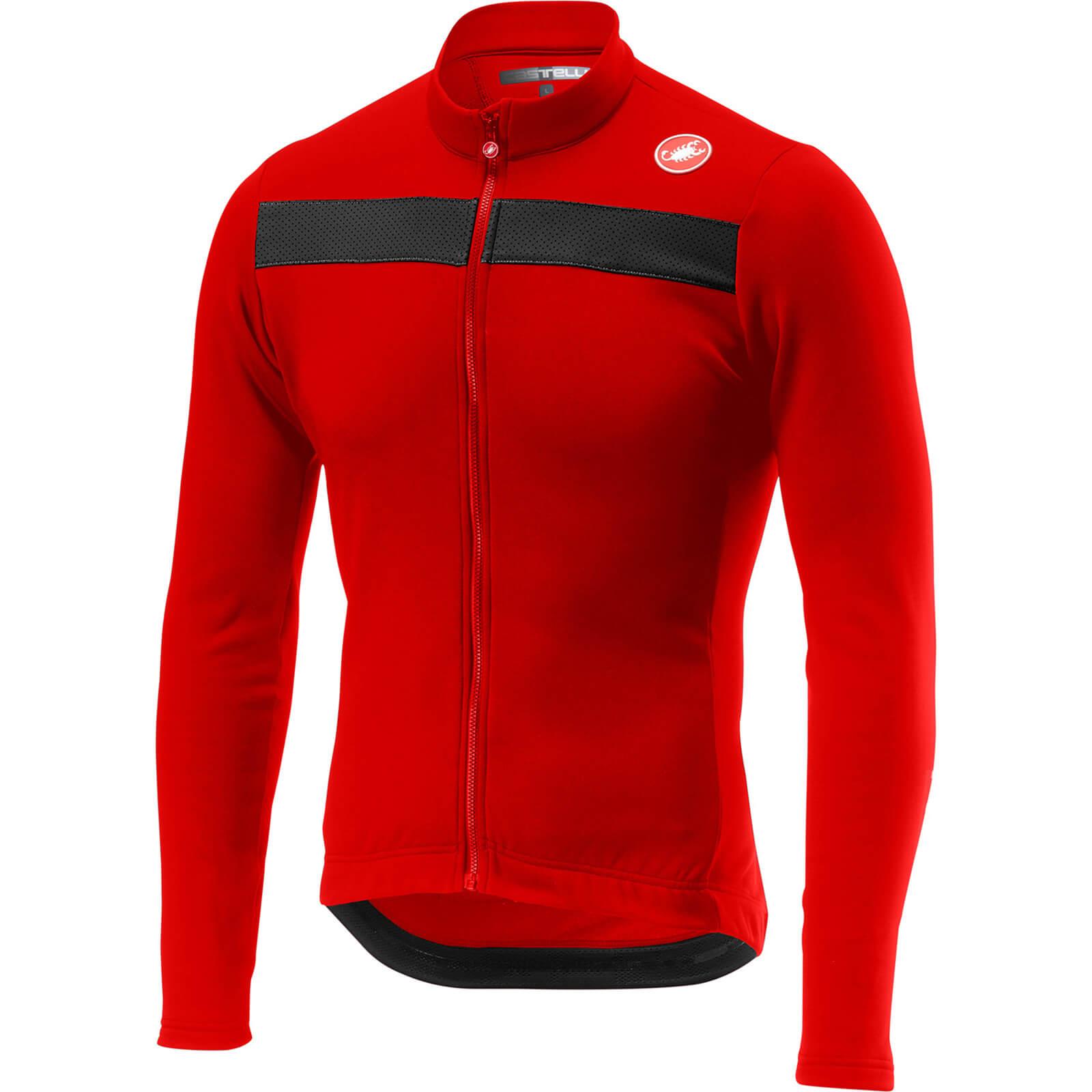 Castelli Puro 3 FZ Jersey - S - Red; male