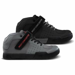 Ride Concepts Youth Wildcat Flat MTB Shoes - UK 5/EU 38 - Charcoal/Red; unisex