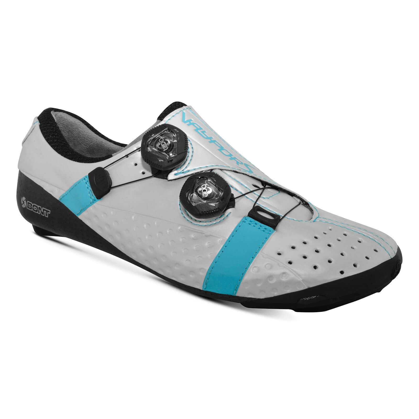 Bont Vaypor S Road Shoes - EU 42 - Standard Fit - White/Blue