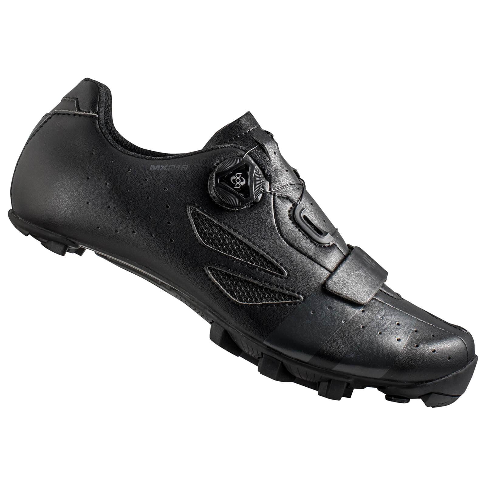Lake MX218 Carbon MTB Shoes - Black/Grey - EU 40; male
