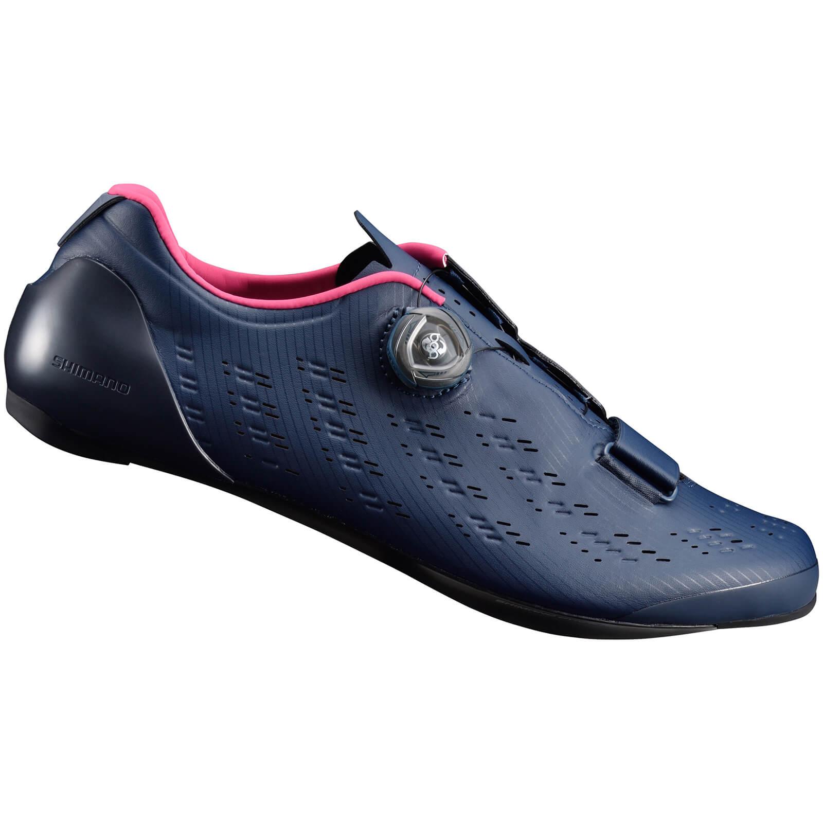Shimano RP9 Road Shoes Carbon Sole - Black - EU 44 - Blue