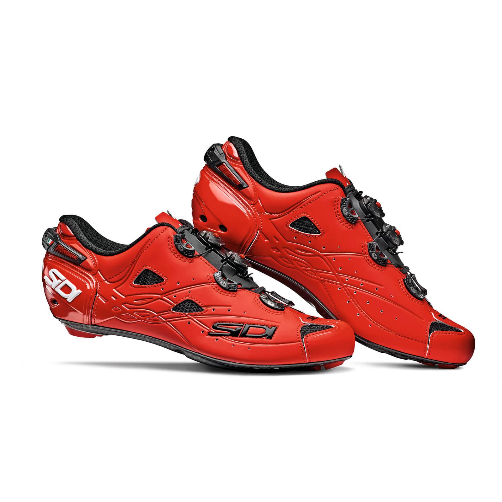Sidi Shot Matt Road Shoes - Matt Red - EU 45 - Matt Red