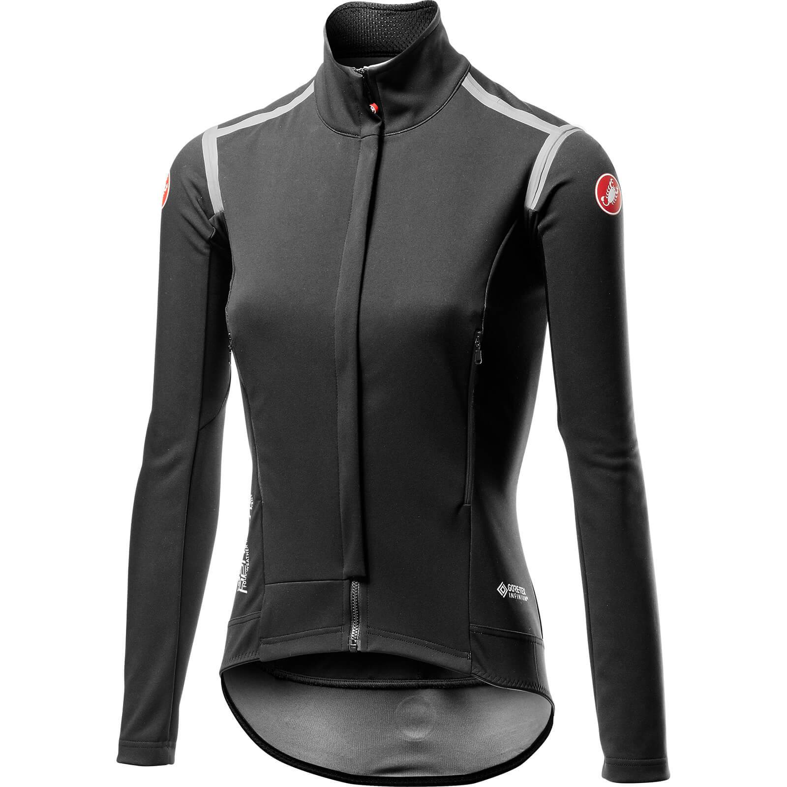 Castelli Women's Perfetto RoS Long Sleeve Jacket - Light Black - L - Light Black; female