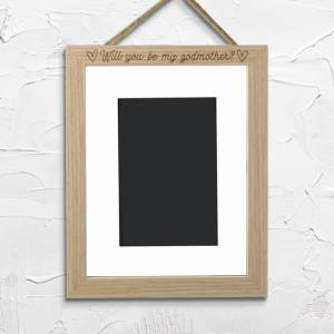 By IWOOT Will You Be My Godmother? Portrait Frame - Small - 20x25cm-
