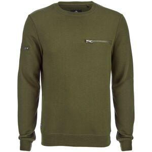 Threadbare Men's Chapel Crew Neck Sweatshirt - Khaki - L - Green-male