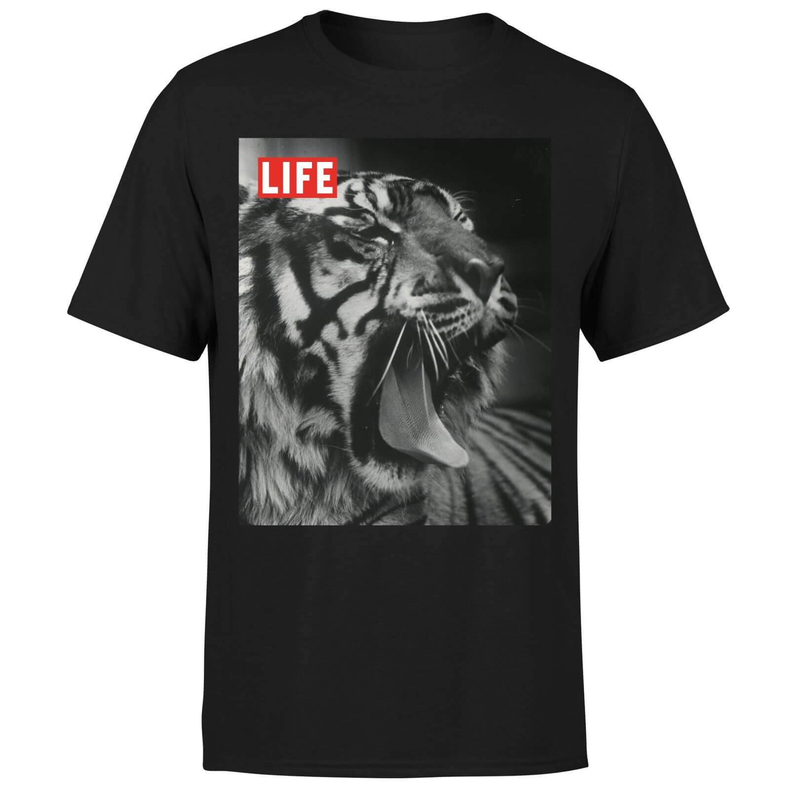 LIFE Magazine Tiger Men's T-Shirt - Black - S - Black-male