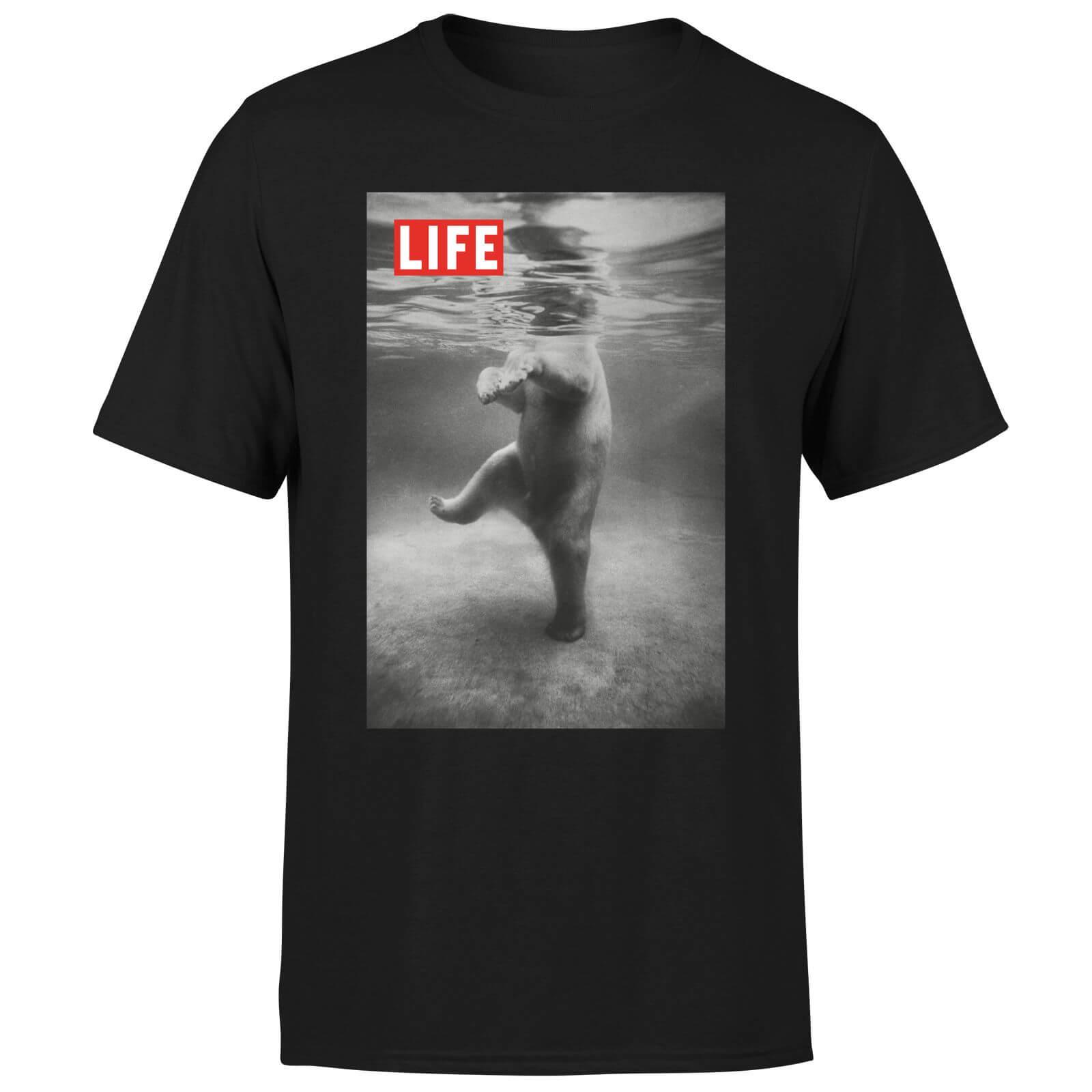 LIFE Magazine Polar Bear Men's T-Shirt - Black - L - Black-male
