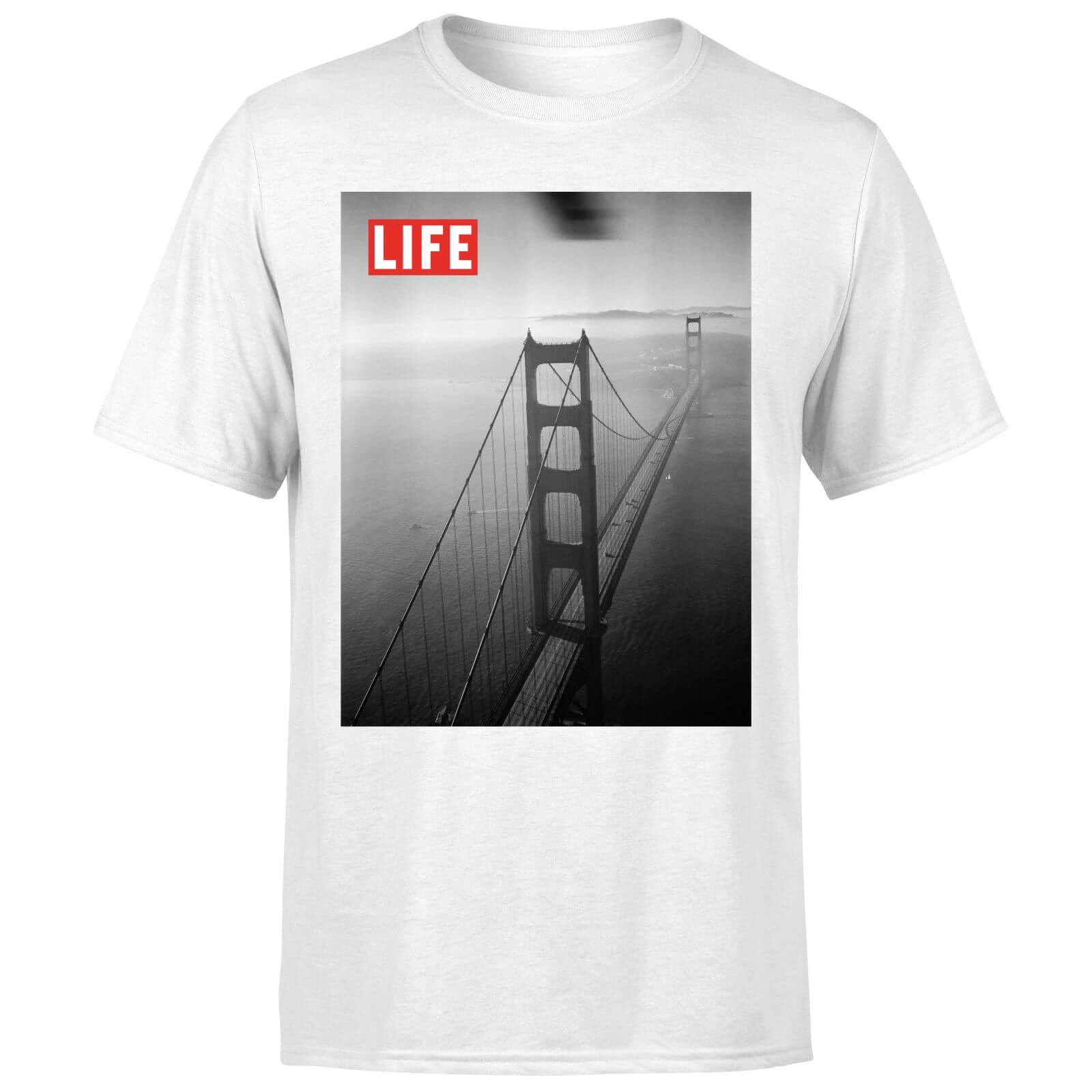 LIFE Magazine Golden Gate Bridge Men's T-Shirt - White - S - White-male