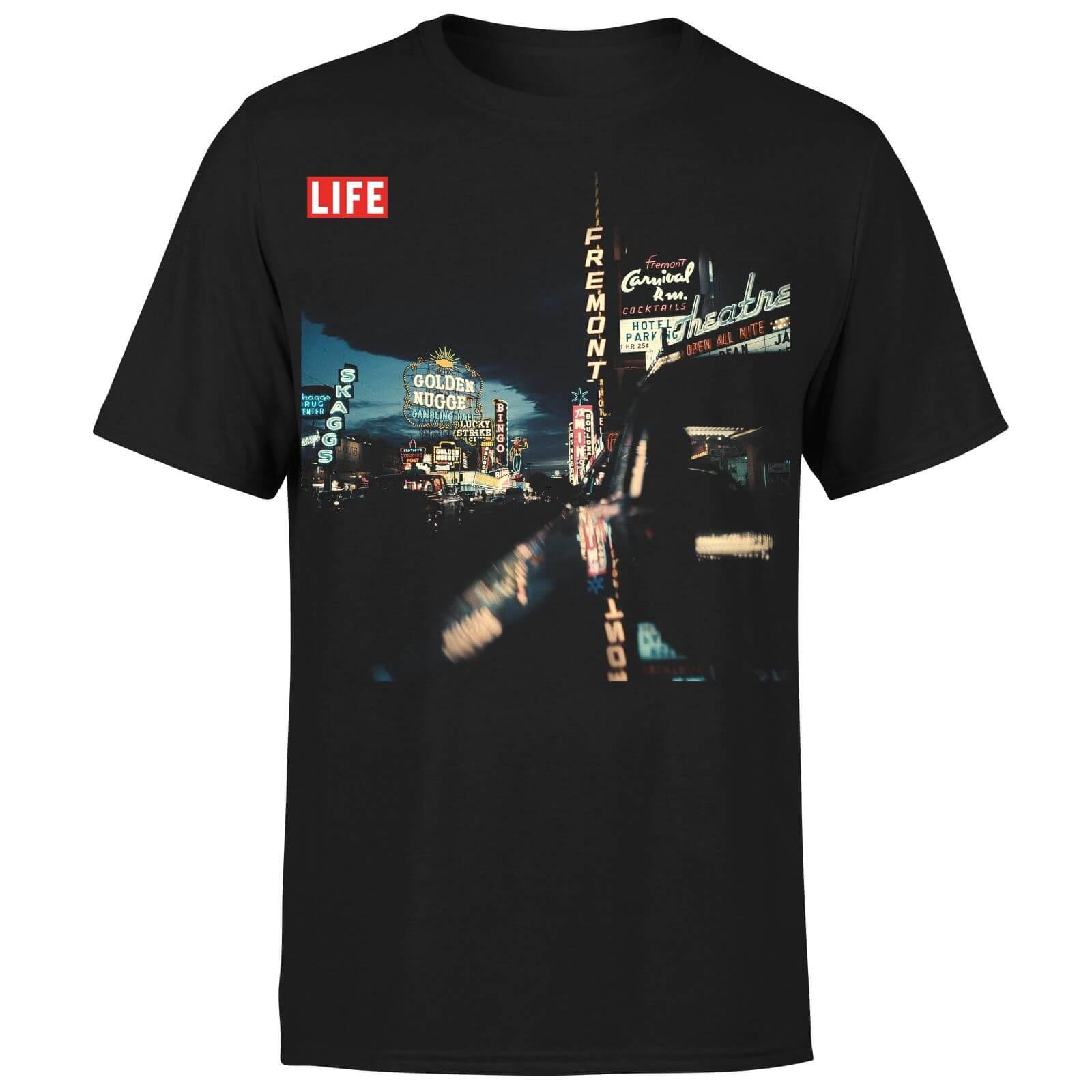LIFE Magazine Night Life Men's T-Shirt - Black - L - Black-male
