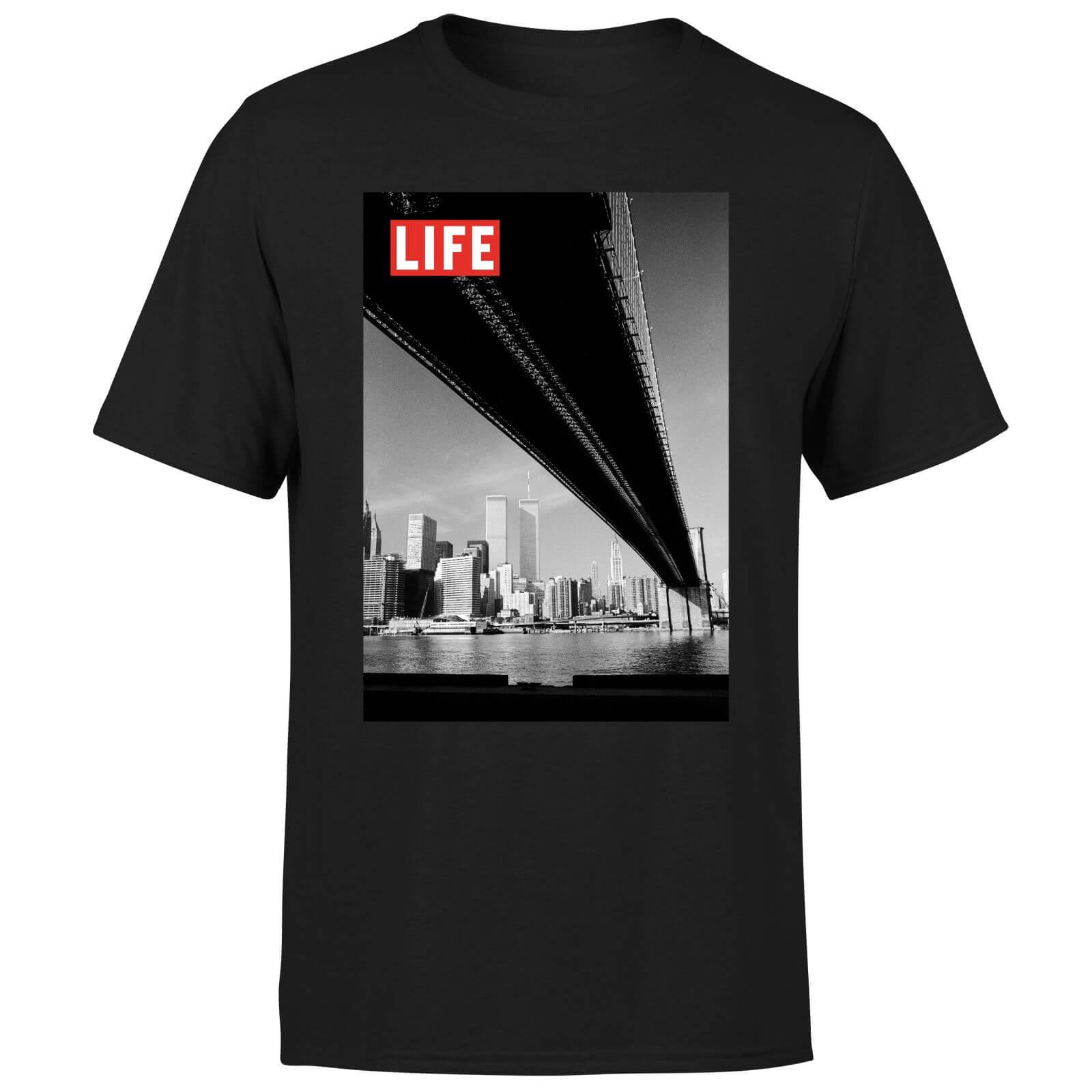 LIFE Magazine Bridge Men's T-Shirt - Black - XXL - Black-male