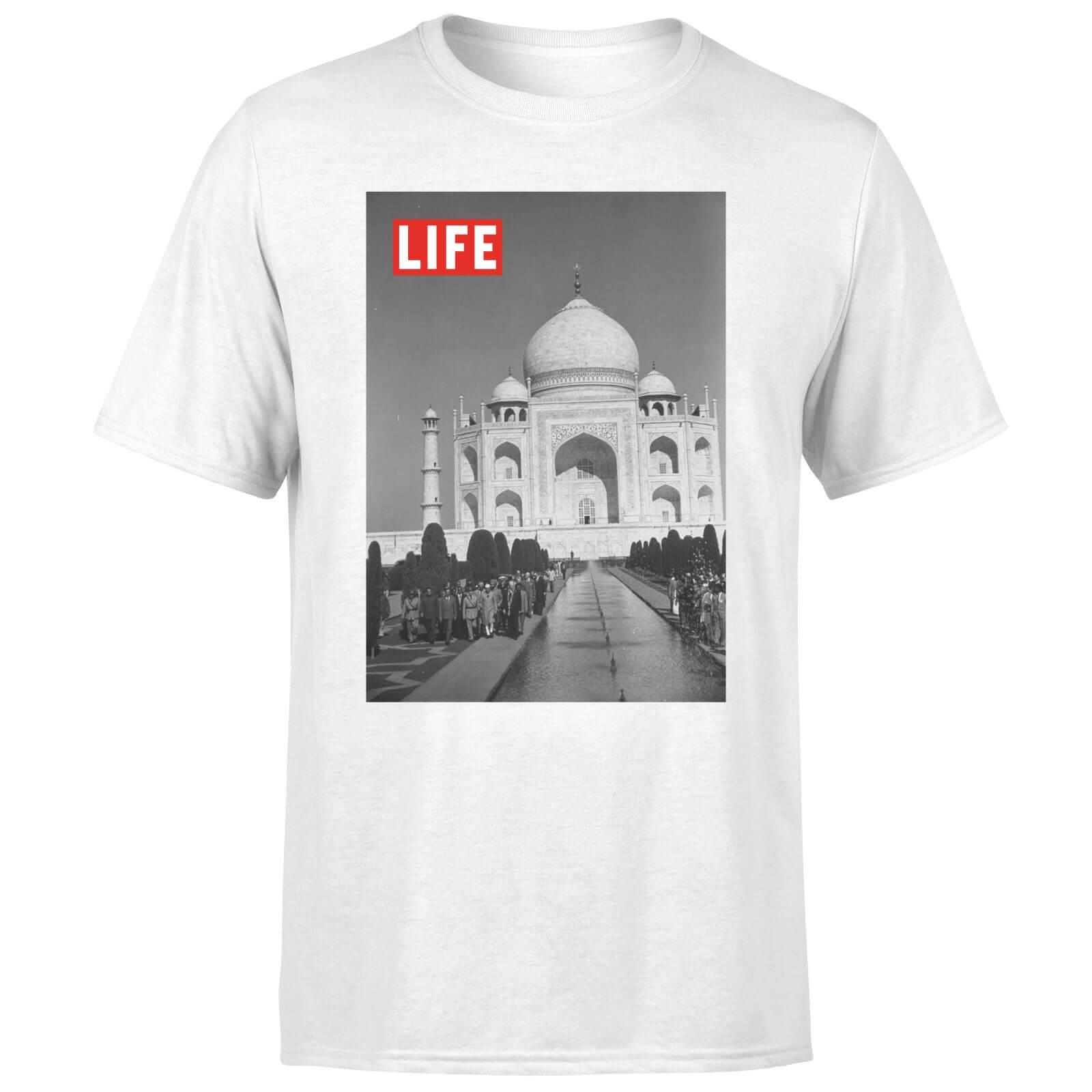 LIFE Magazine Taj Mahal Men's T-Shirt - White - L - White-male