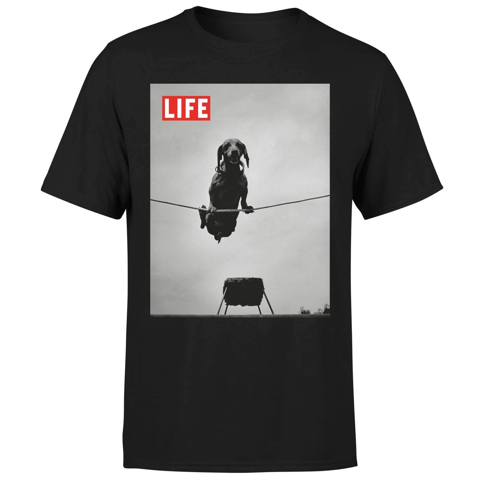 LIFE Magazine Dachshund On A Wire Men's T-Shirt - Black - XL - Black-male