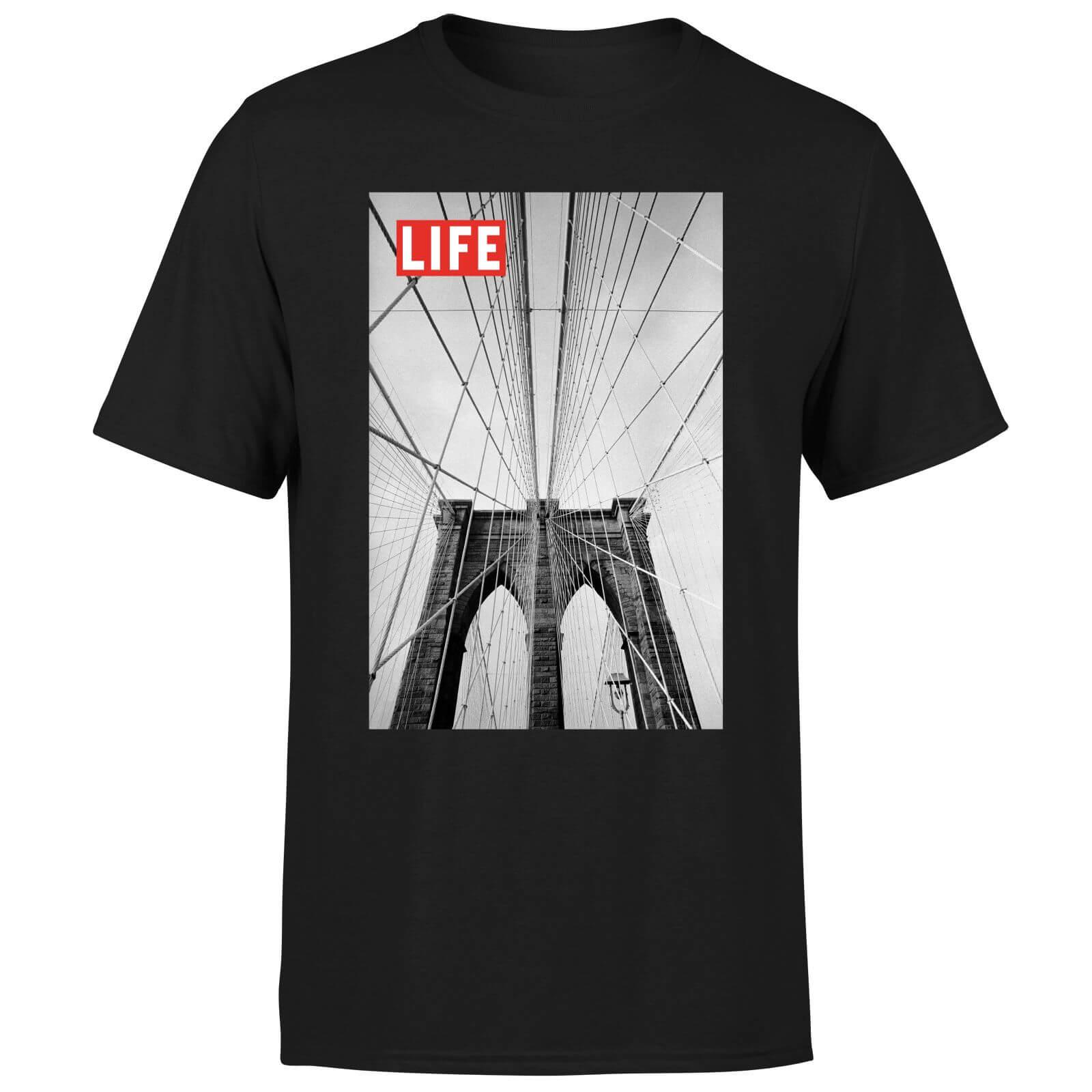 LIFE Magazine City Bridge Men's T-Shirt - Black - L - Black-male