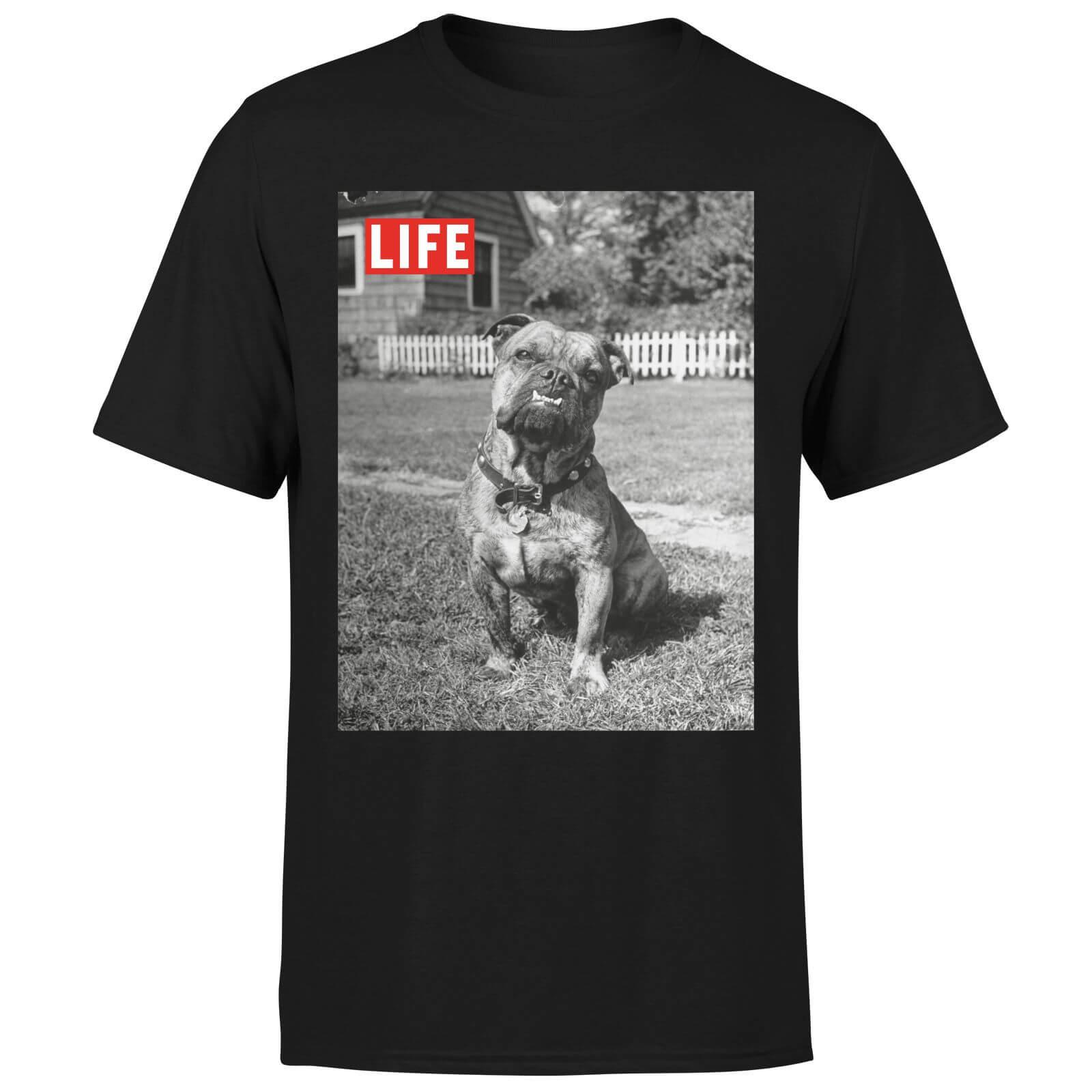 LIFE Magazine Dog Men's T-Shirt - Black - XL - Black-male