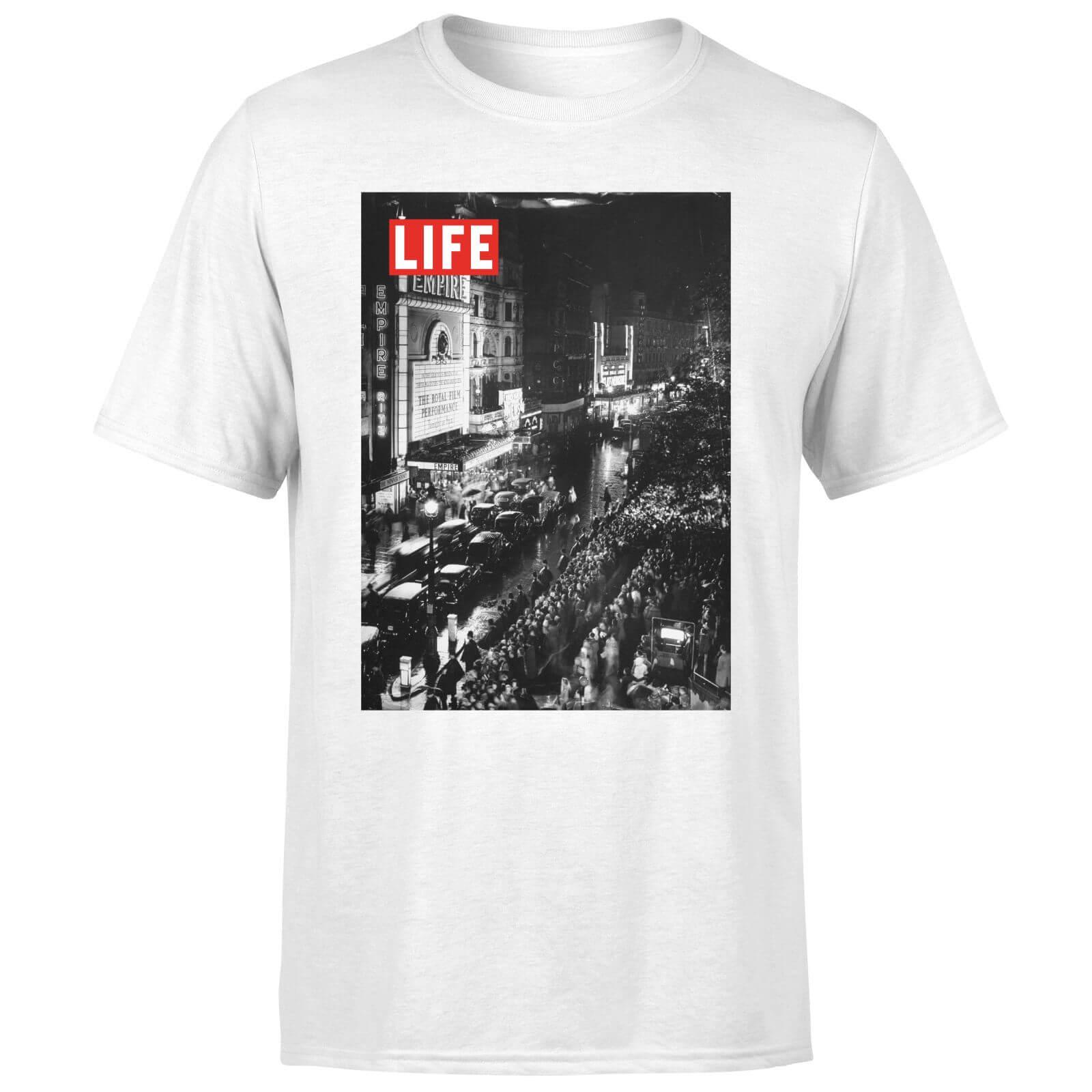 LIFE Magazine City Lights Men's T-Shirt - White - S - White-male