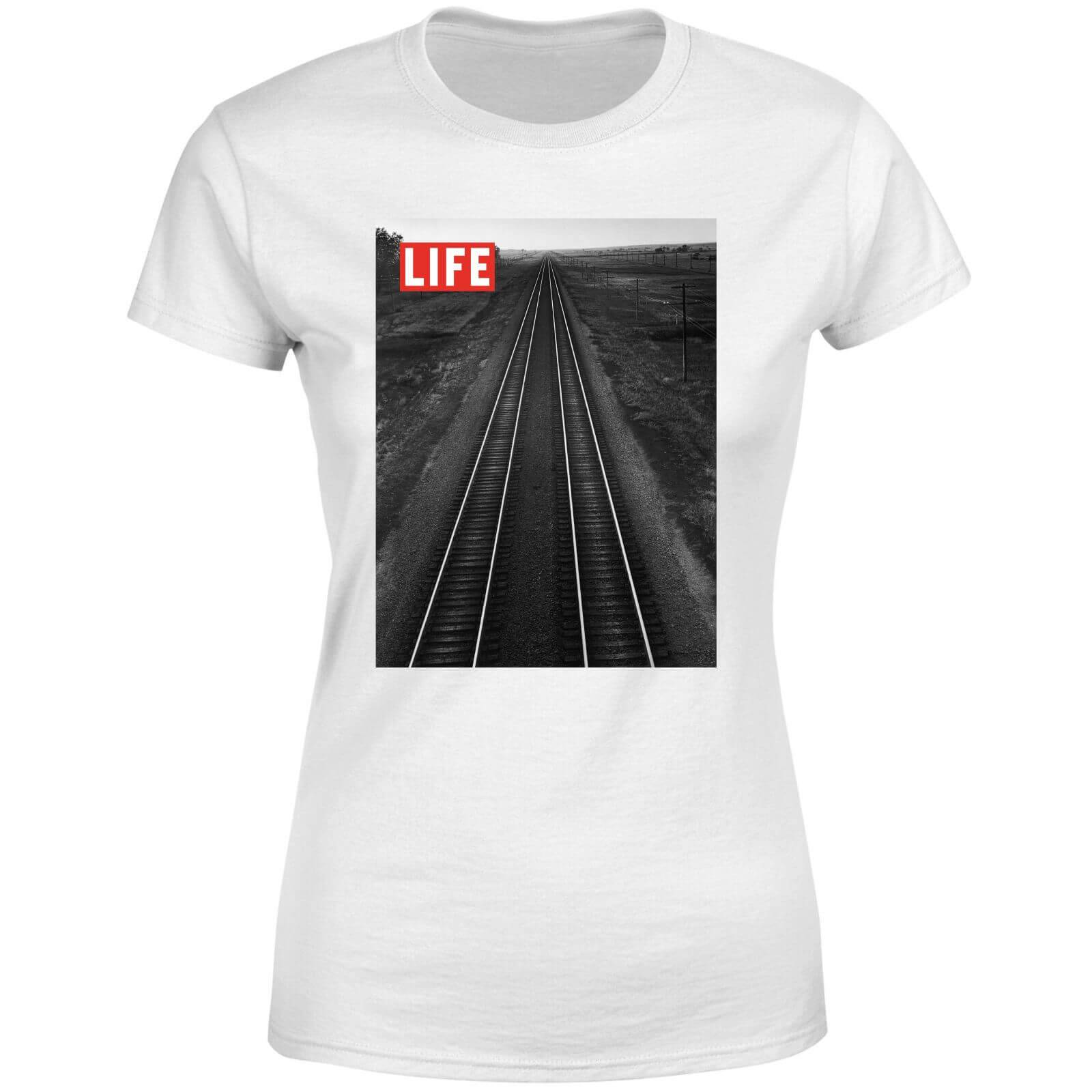 LIFE Magazine Railway Women's T-Shirt - White - XL - White-female