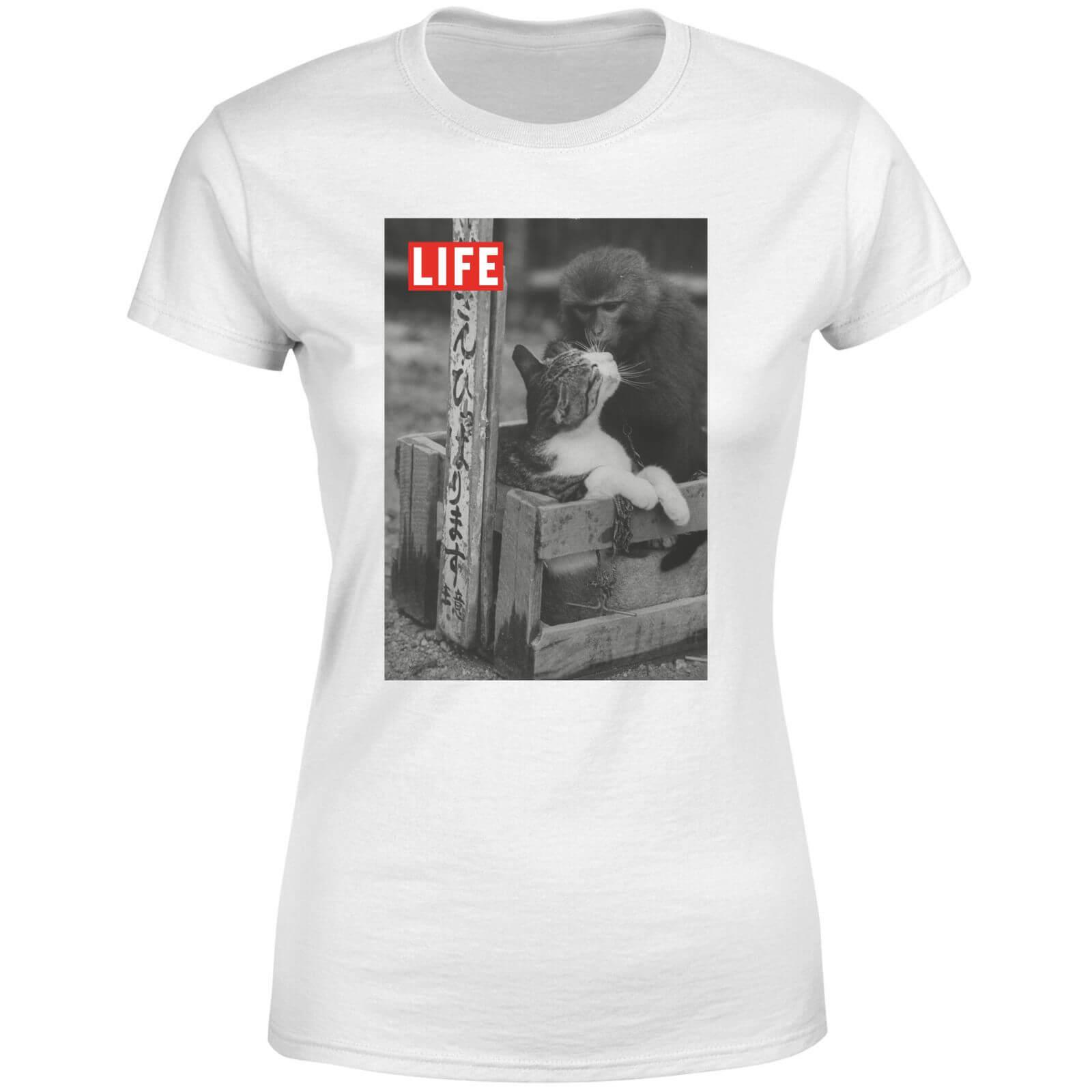 LIFE Magazine Monkey And Cat Women's T-Shirt - White - L - White-female