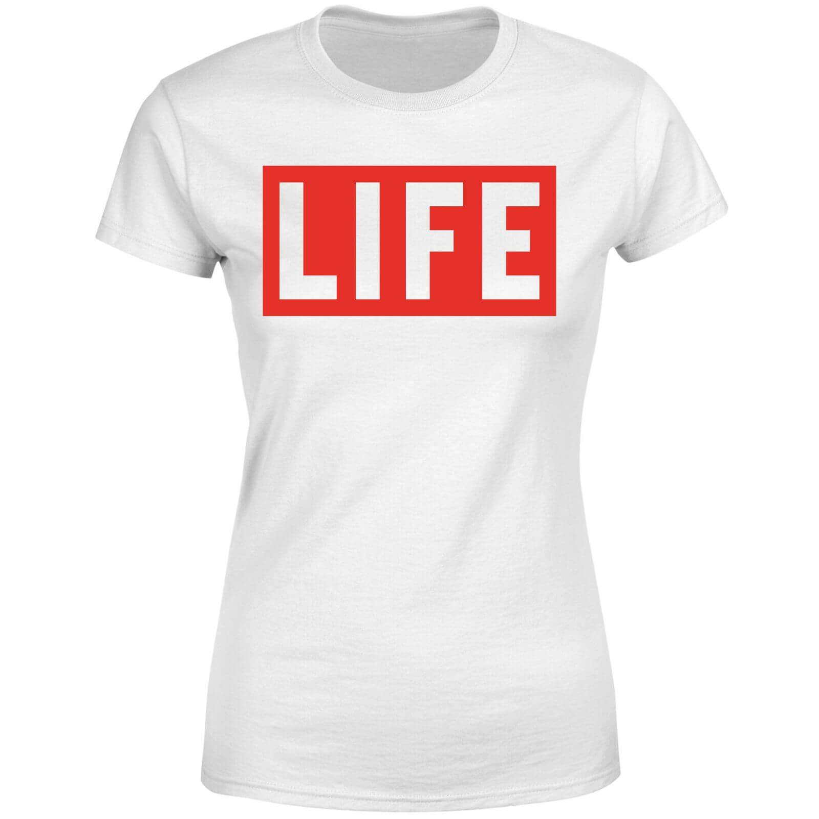 LIFE Magazine LIFE Logo Women's T-Shirt - White - L - White-female