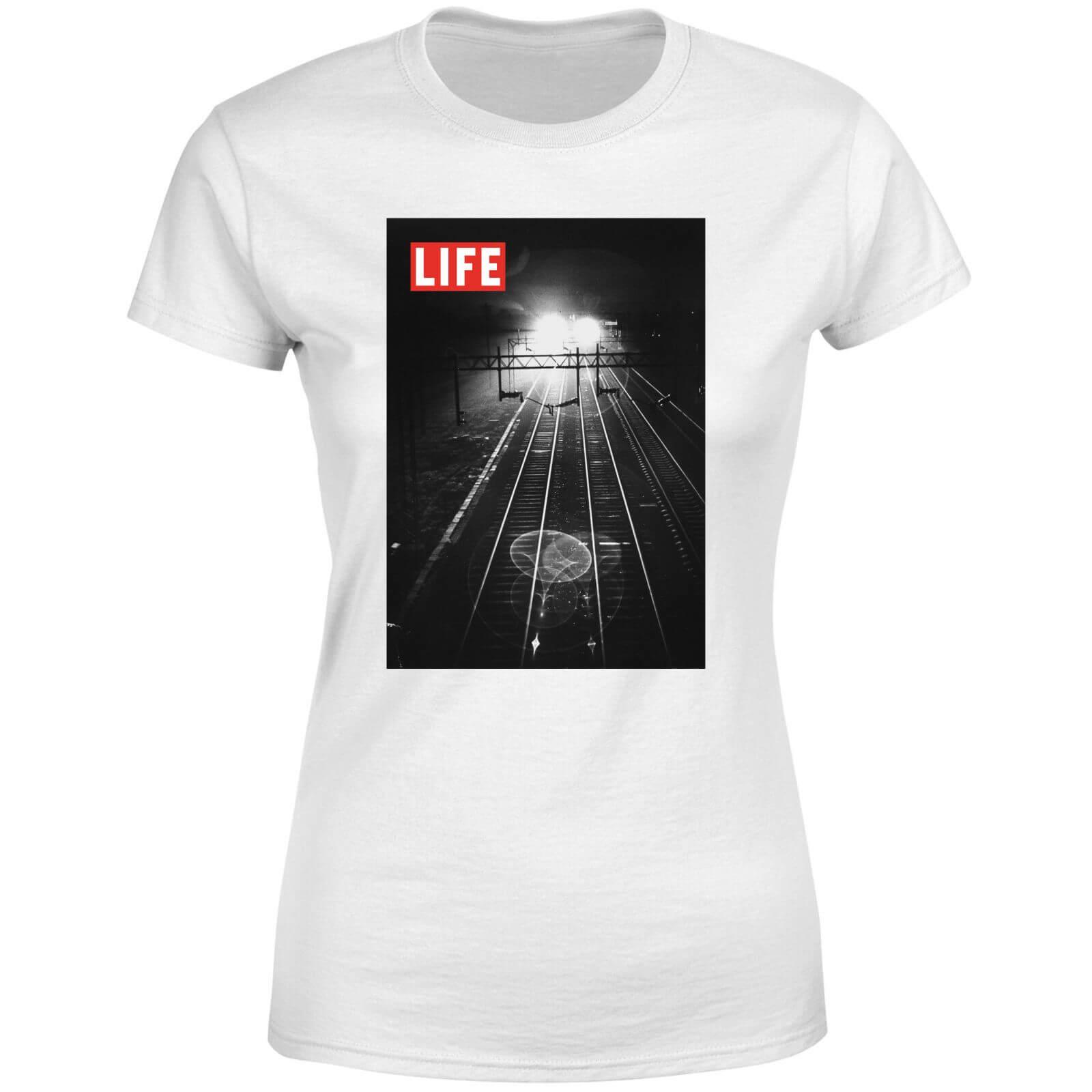 LIFE Magazine Railway Tracks Women's T-Shirt - White - L - White-female
