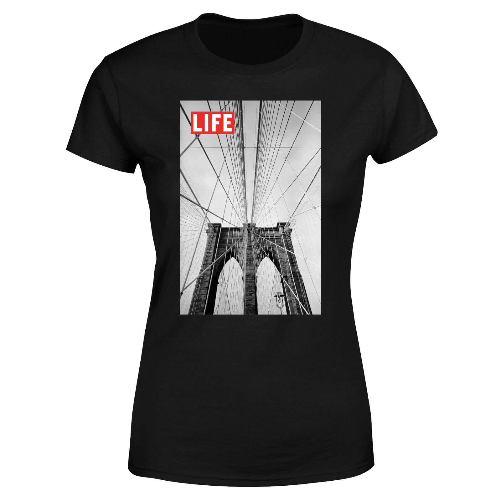 LIFE Magazine City Bridge Women's T-Shirt - Black - L - Black-female
