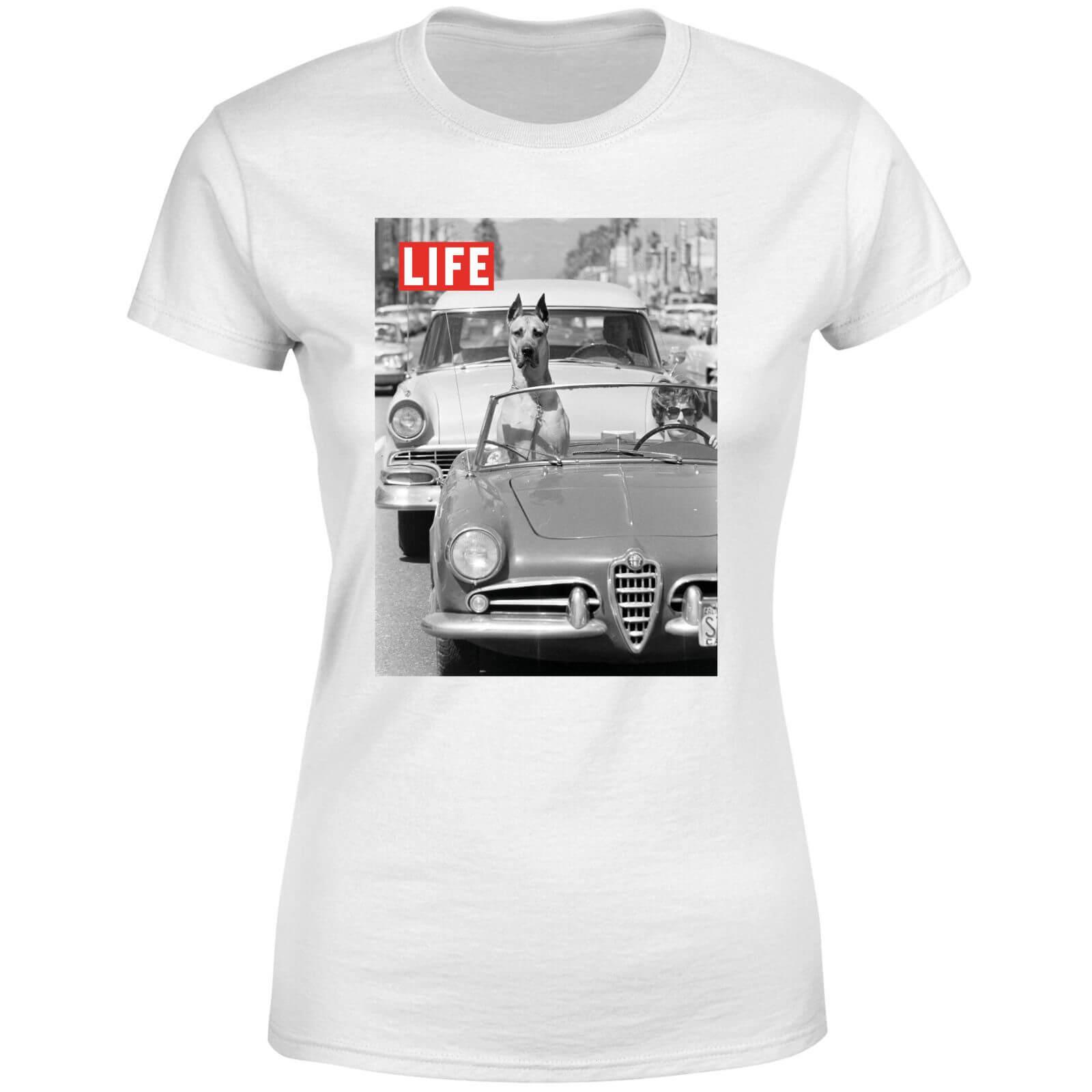 LIFE Magazine Dog In A Car Women's T-Shirt - White - S - White-female