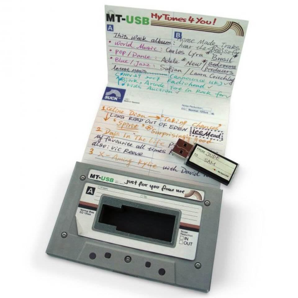 Suck UK USB Mix Tape-unisex